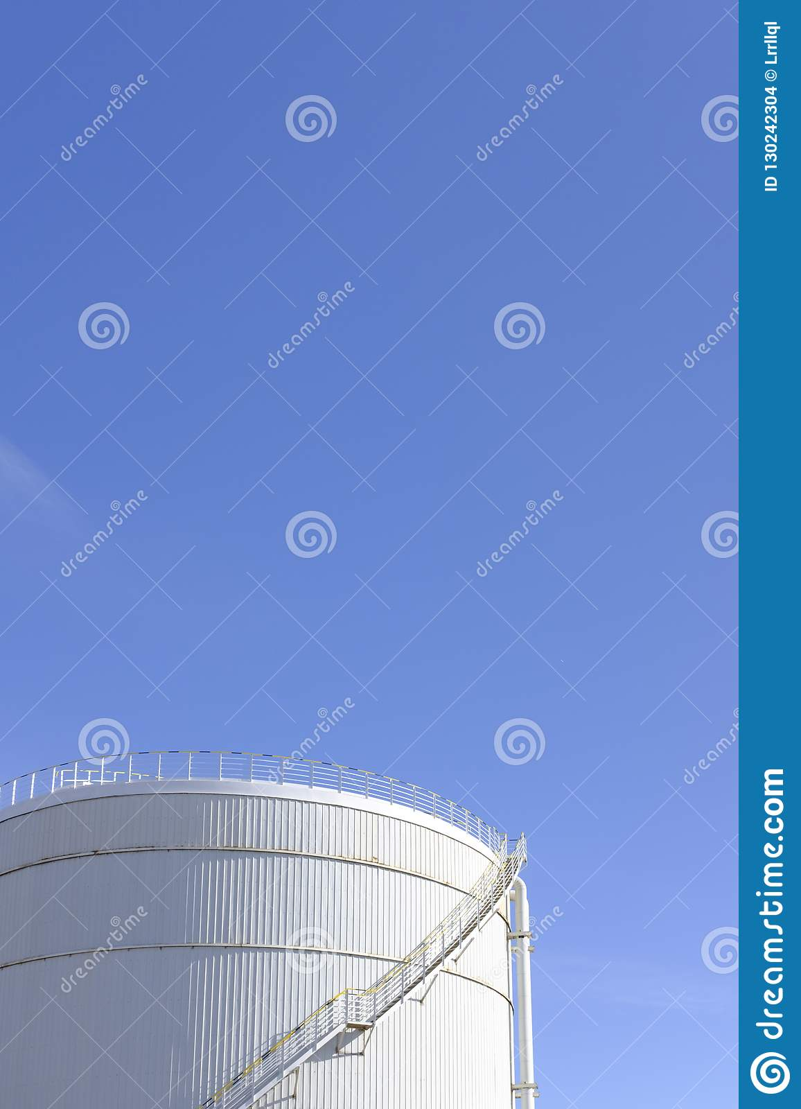 A tank is standing under the blue sky