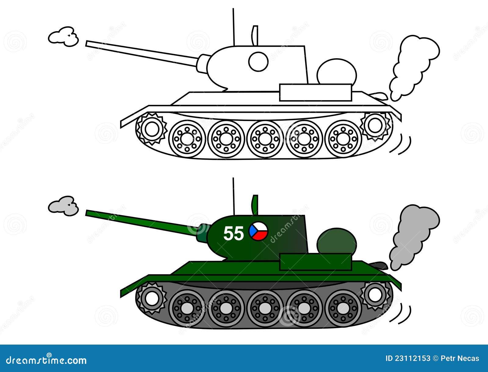 Раскраски танка для детей