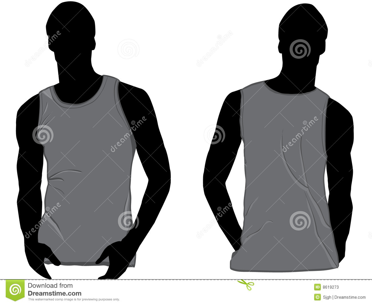 Grey Tank Top Stock Vector Illustration Of Clothes Cloth 8604041