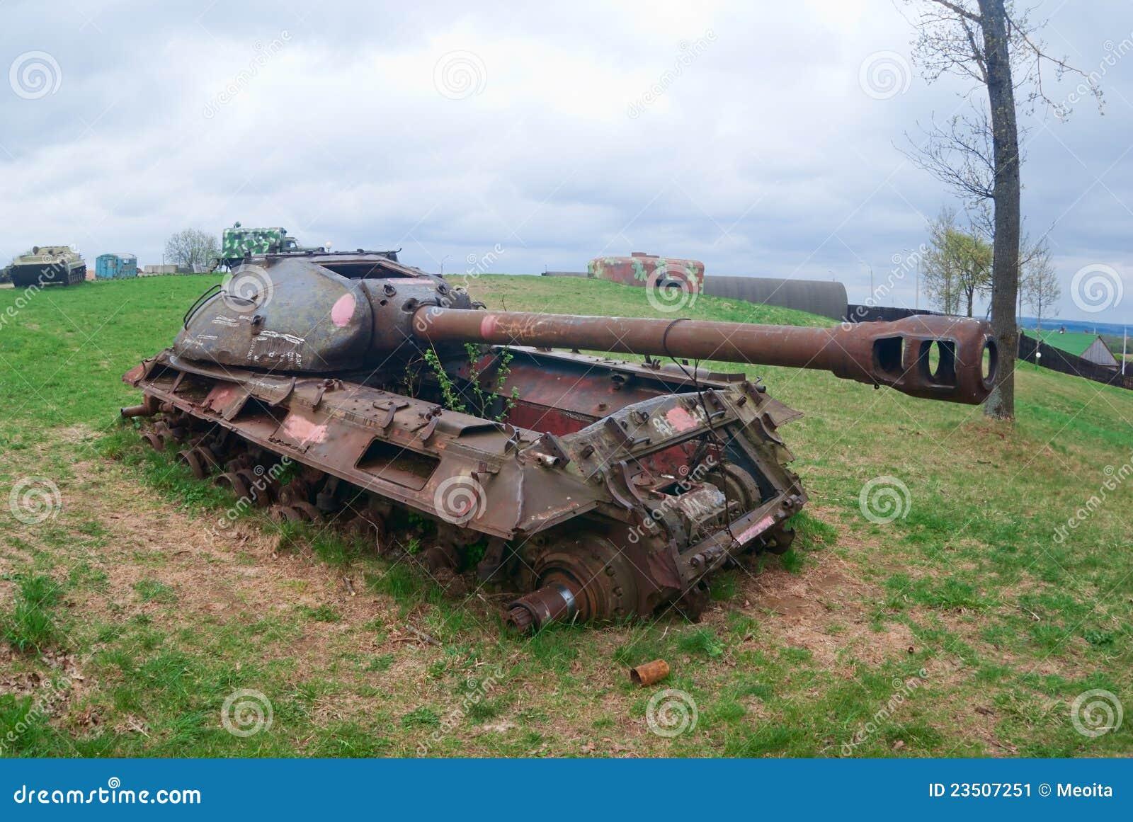 Tank Wreck Stock Image - Image: 23507251