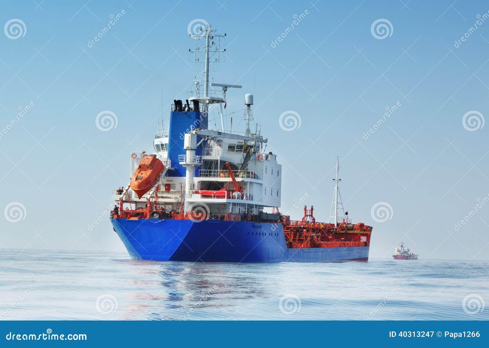 Tanker in de oceaan