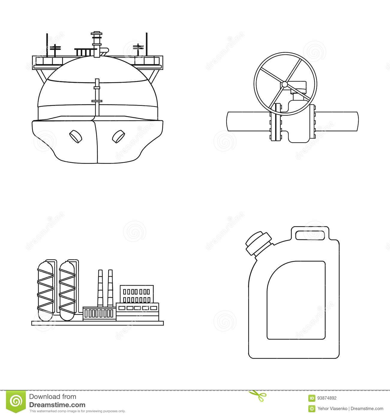 Tanker, Pipe Stop, Oil Refinery, Canister With Gasoline  Oil