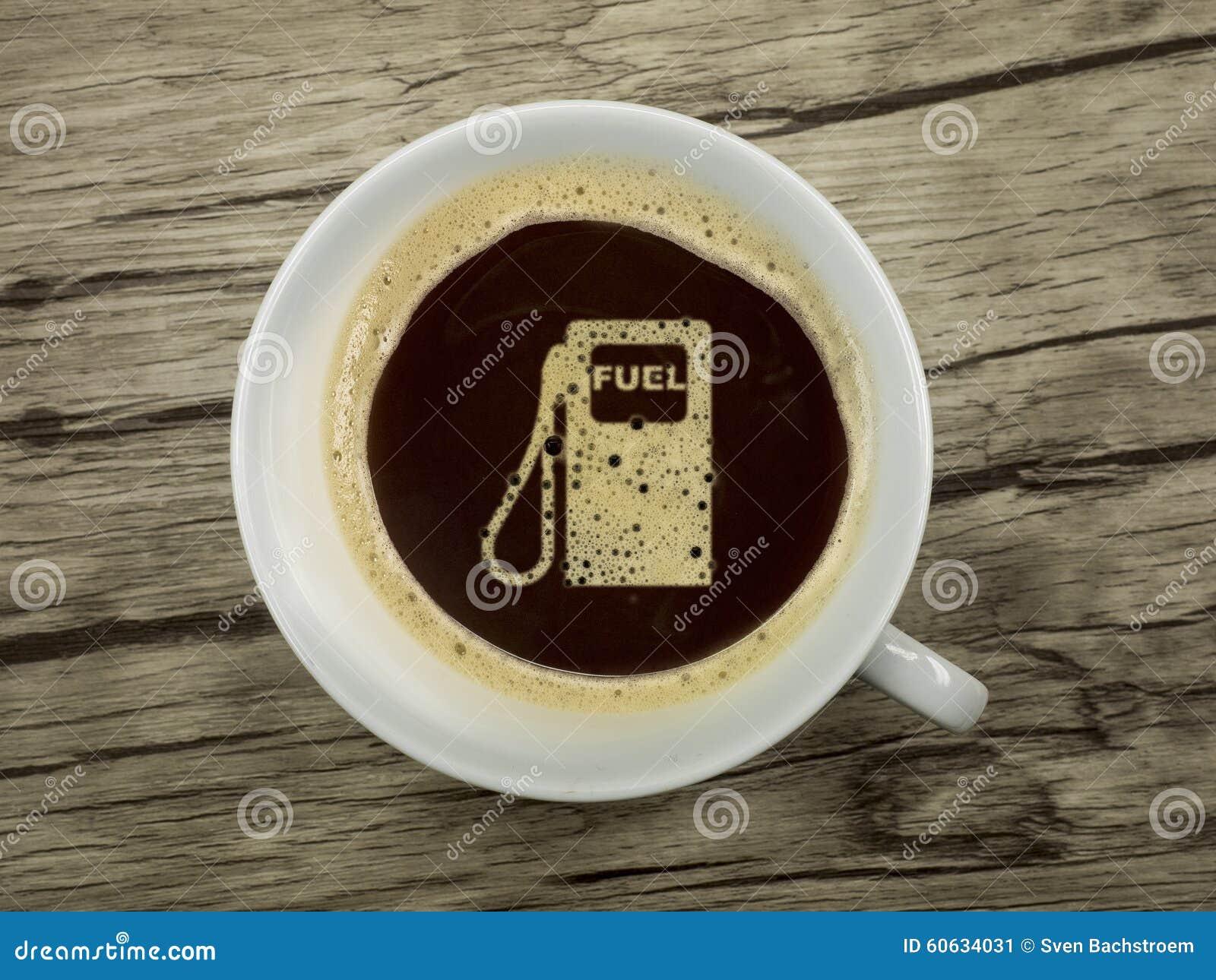 Tankstelle bietet Kaffee an