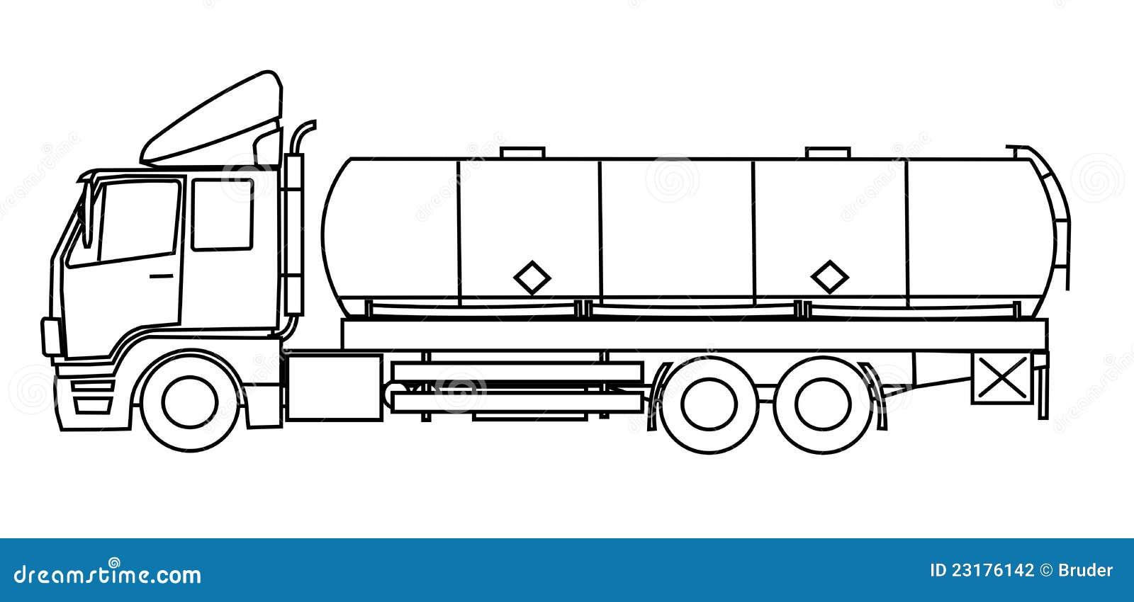 tankwagen stock illustratie  illustratie bestaande uit