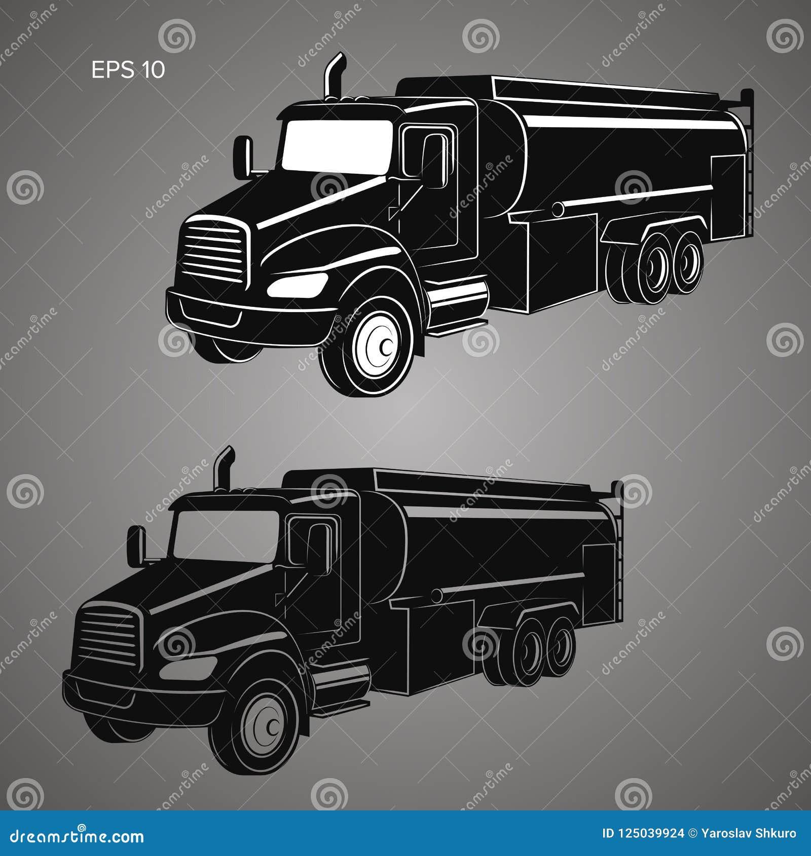 Tankwagen vectorillustratie Moderne tanker geïsoleerde vector
