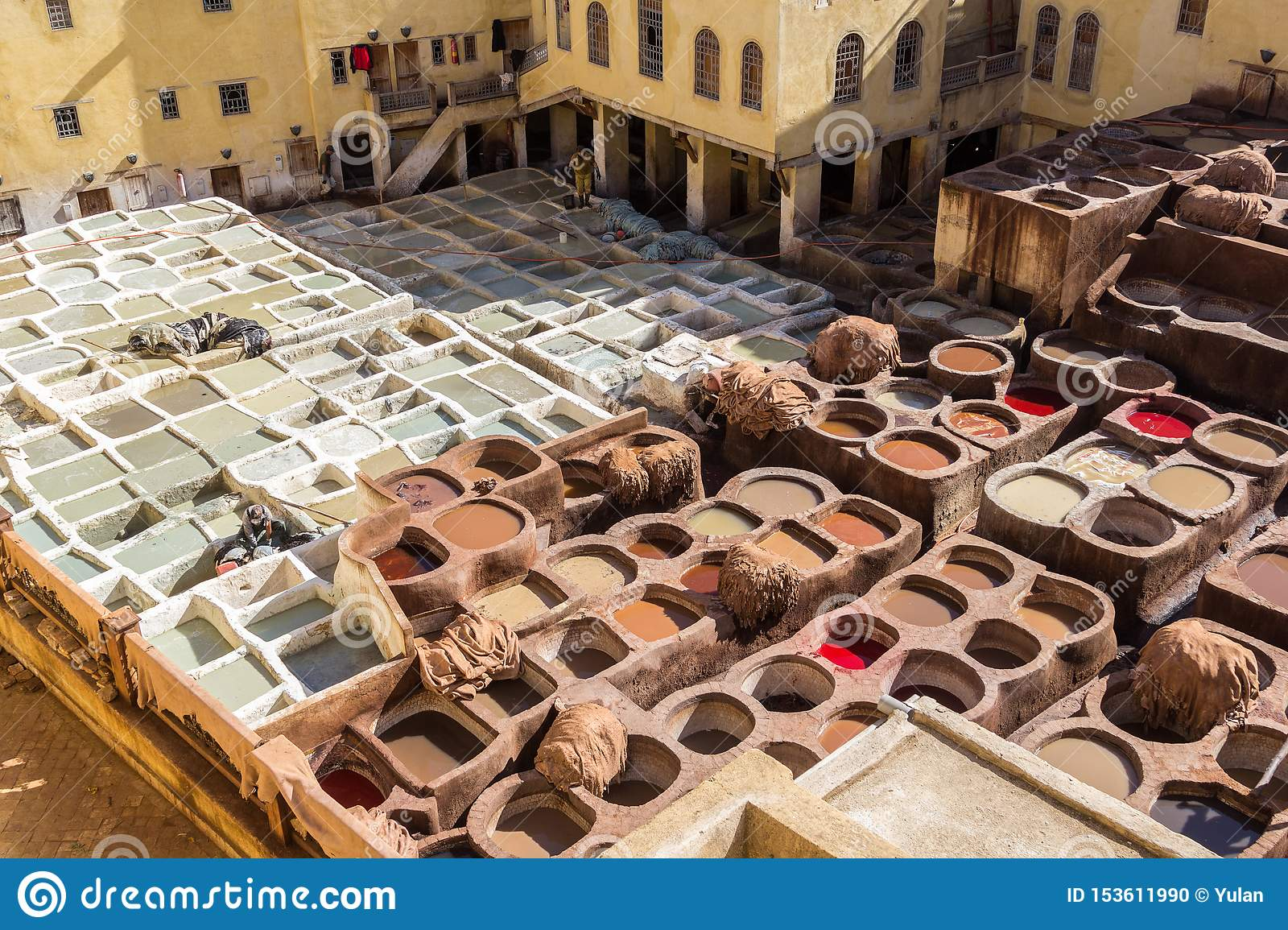 Tannery in old Medina, Fes, Morocco