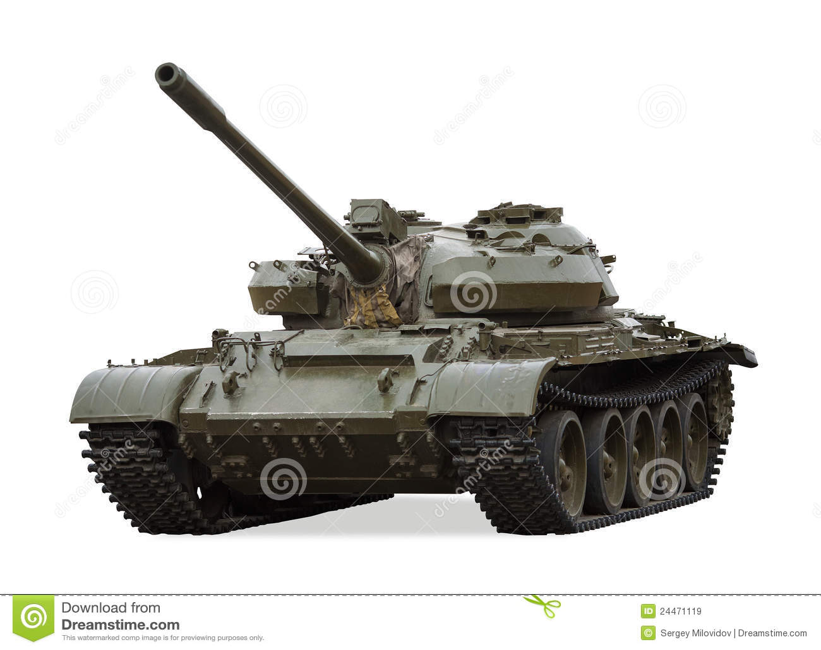 Tanque de batalla principal viejo T-55, Rusia