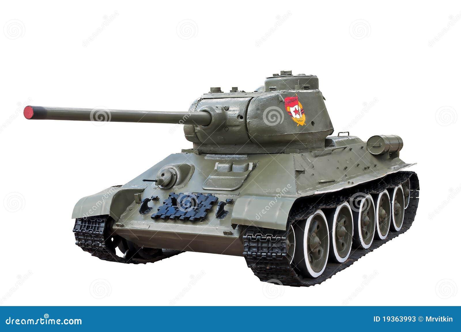 Tanque soviético legendário t34 da segunda guerra mundial