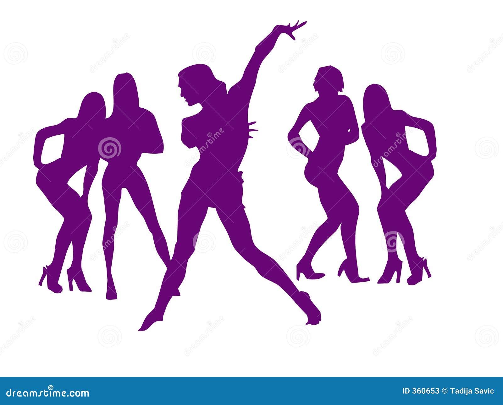 Tanz der reizvollen Mädchen für neue Jahre