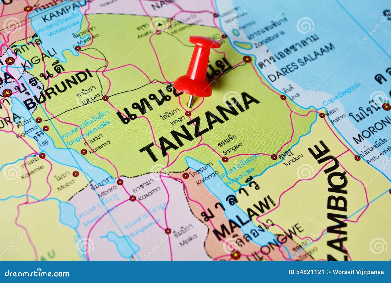 Tanzania Map Stock Photos Download Images - Tanzania map download