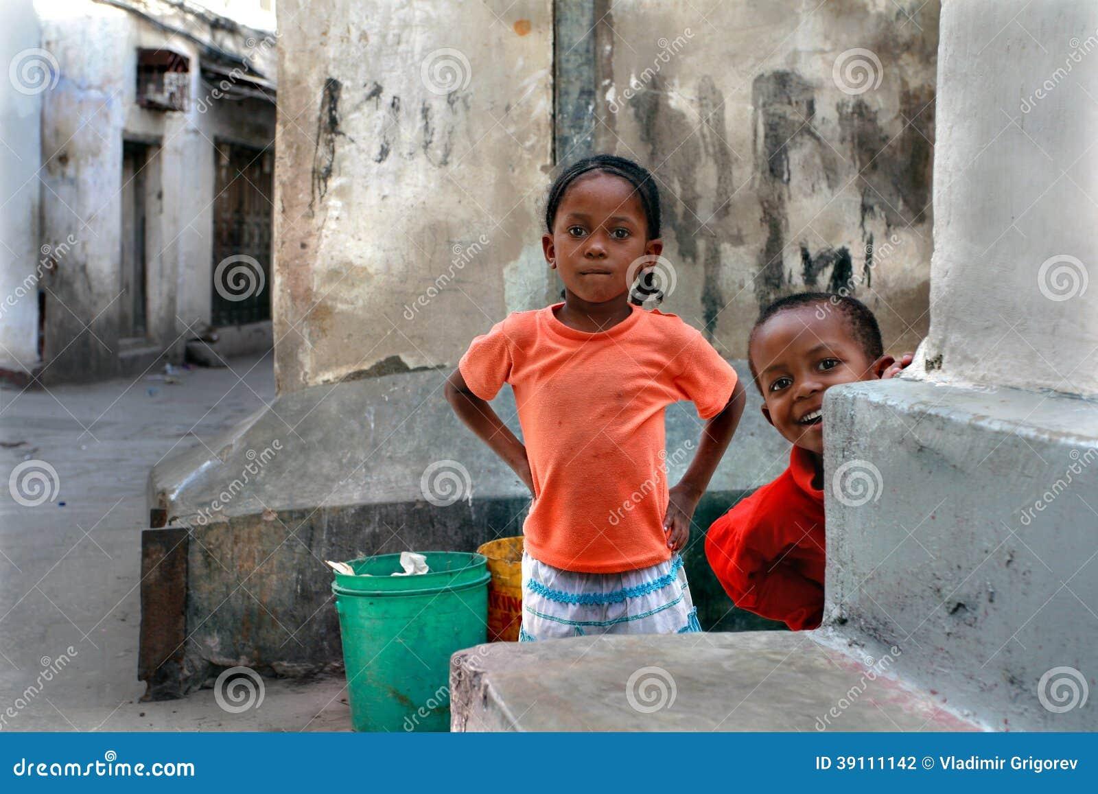 Tanzania, Zanzibar, Steenstad, kinderenspel