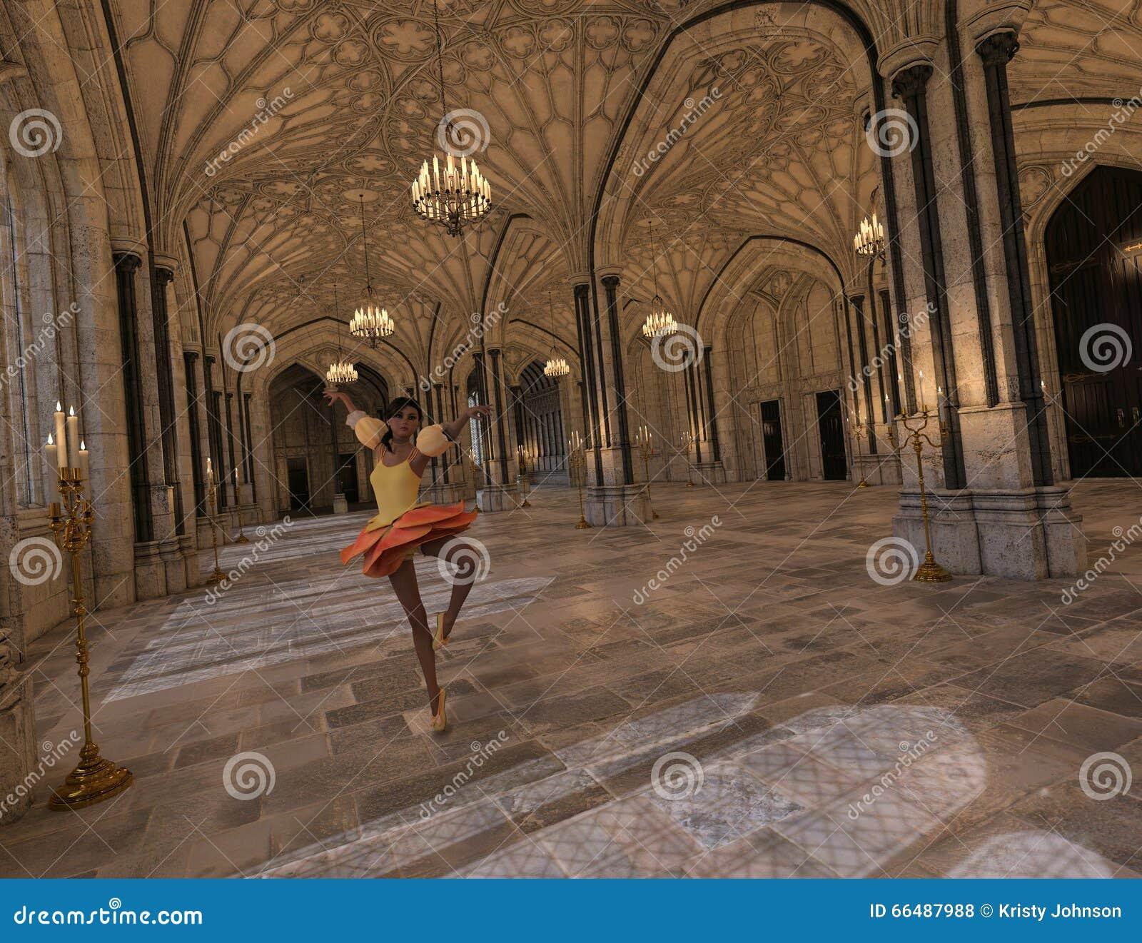 Tanzen in das Ballsaal