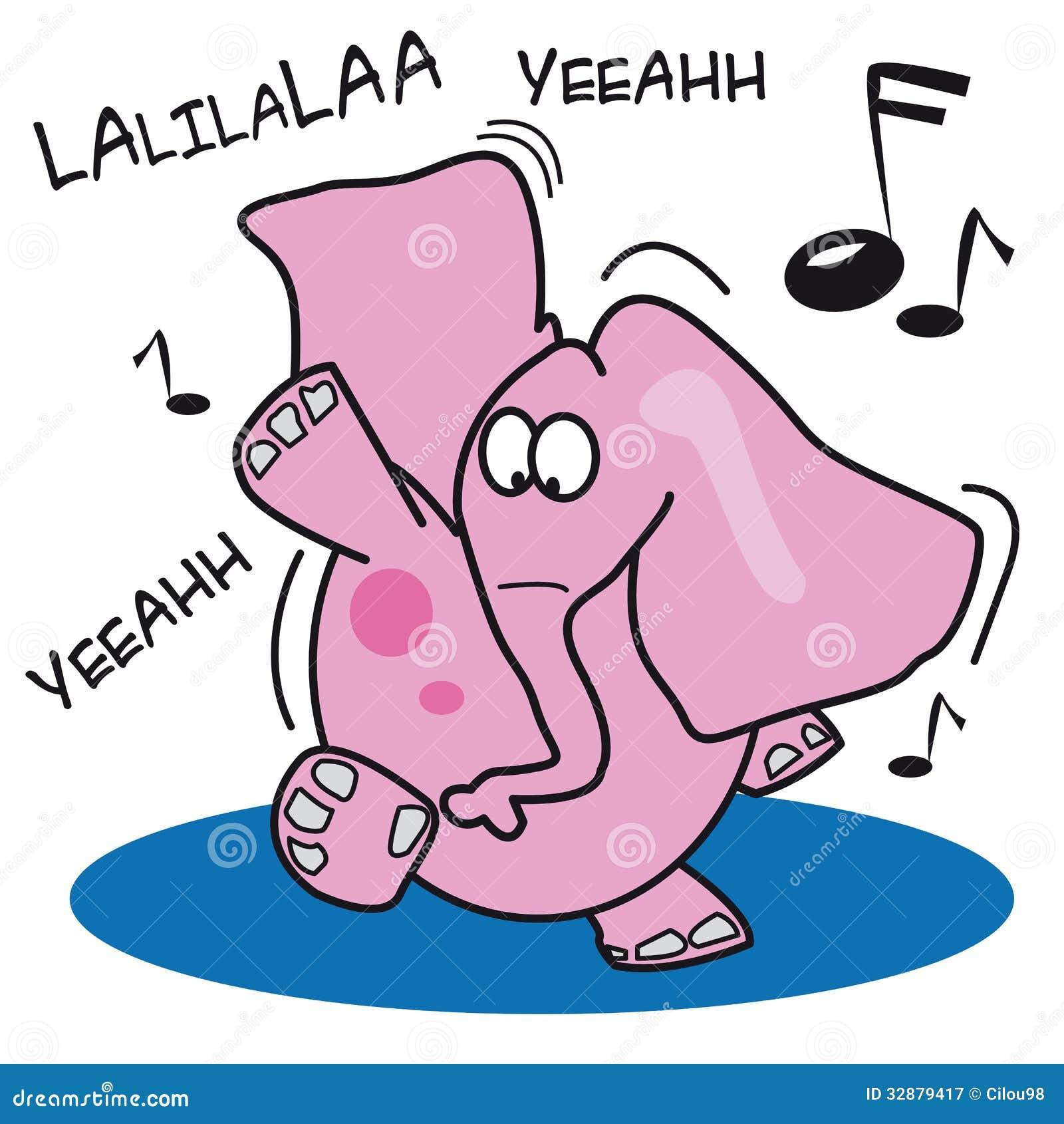 Tanzen Des Rosa Elefanten Lizenzfreie Stockfotografie - Bild: 32879417