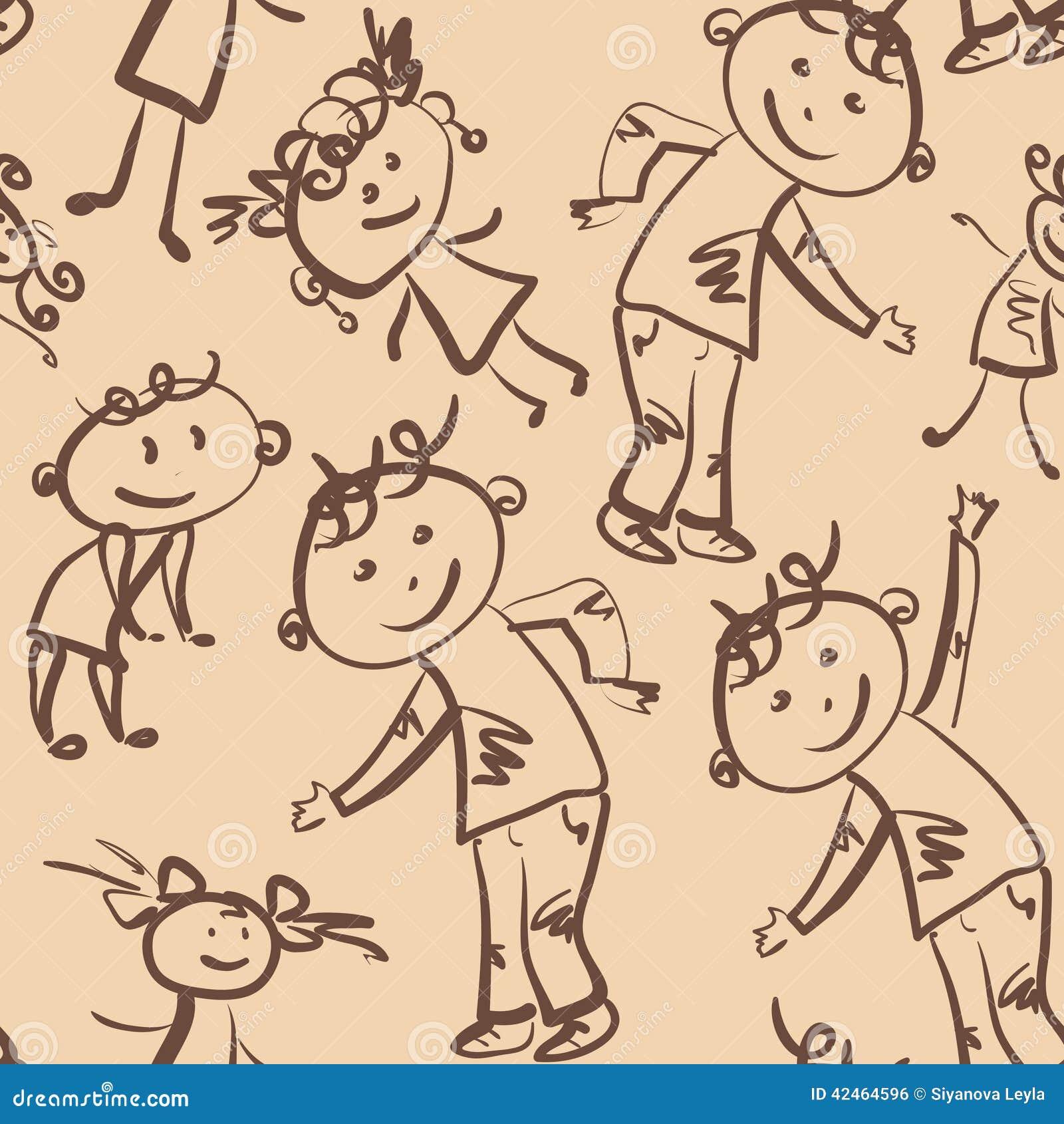 Tanzenkindernahtloses Muster
