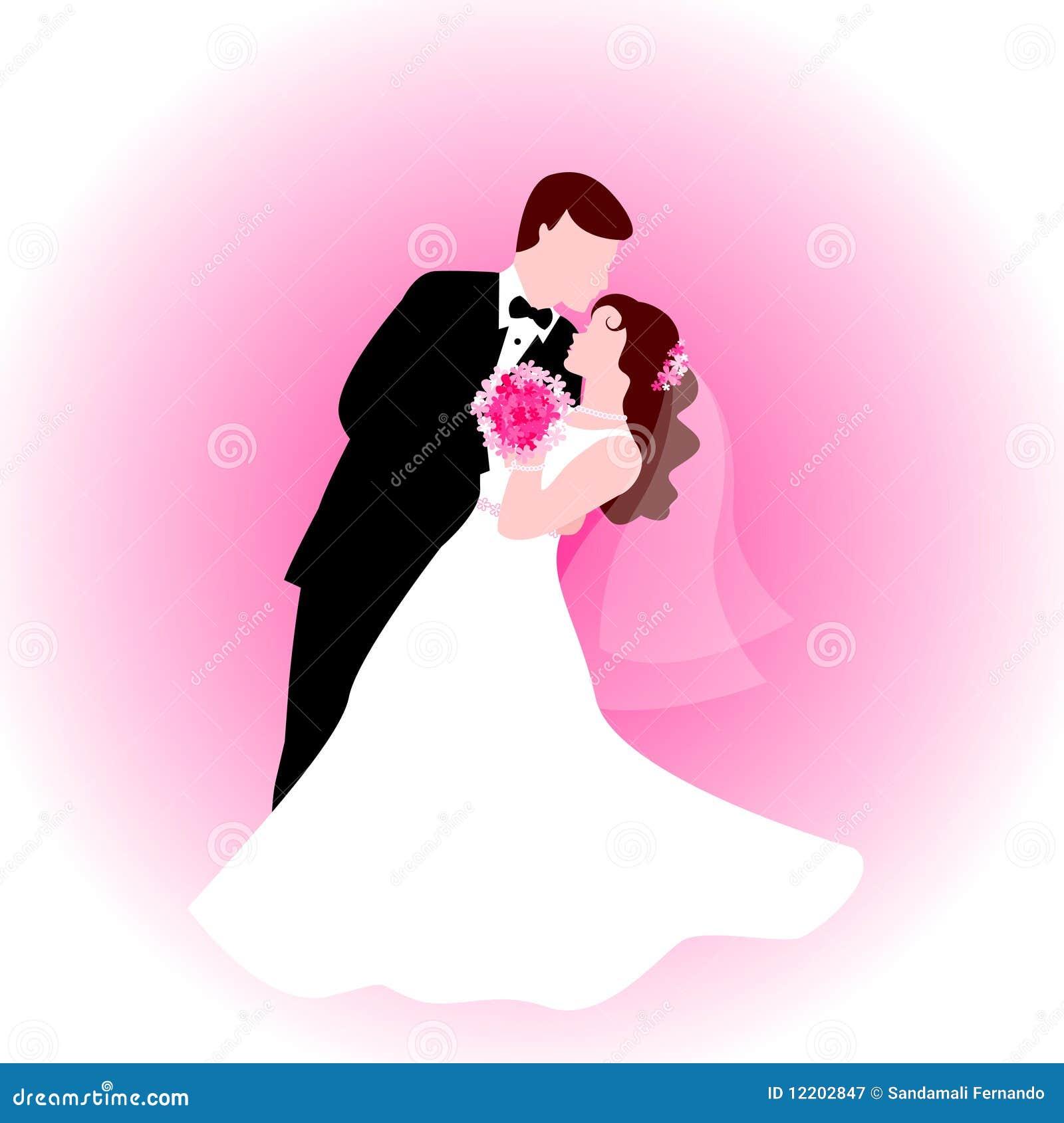 Tanzenpaare mit rosafarbenem Hintergrund