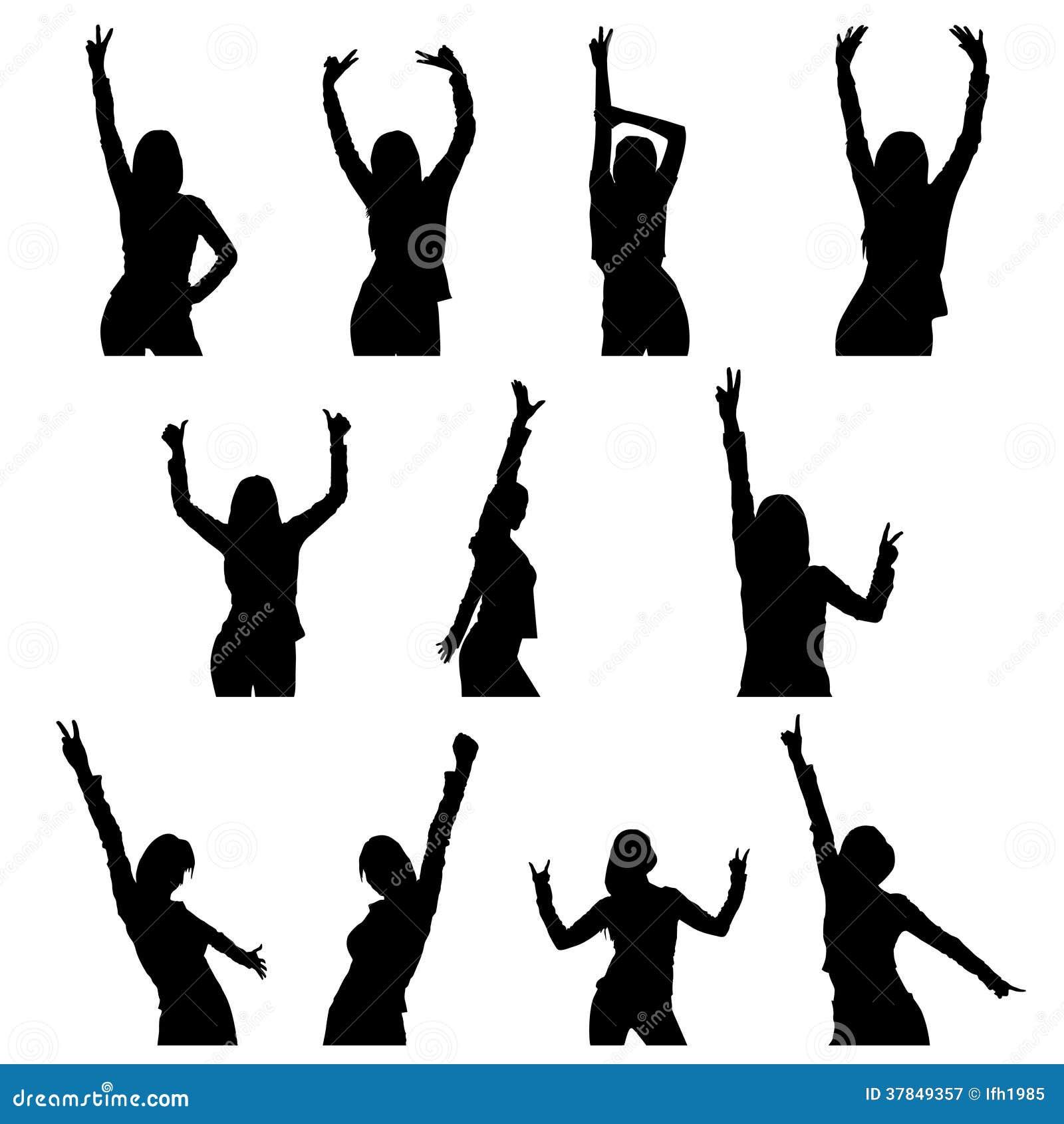 Tanzmädchenschattenbild