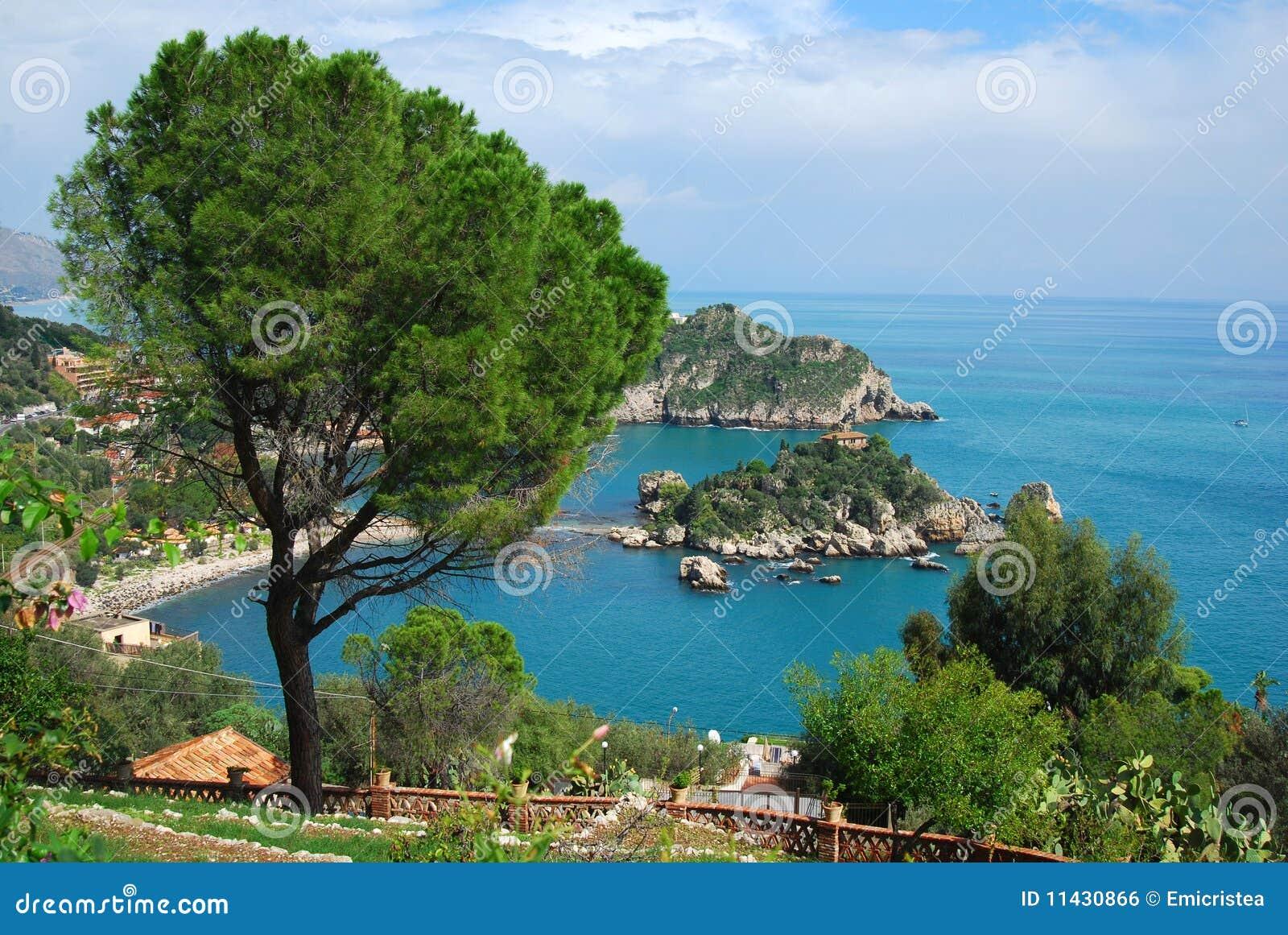 Taormina en Isola Bella (Sicilië)