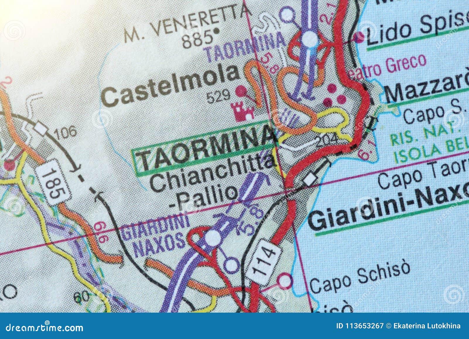 Taormina The Island Of Sicily Italy Stock Image Image Of