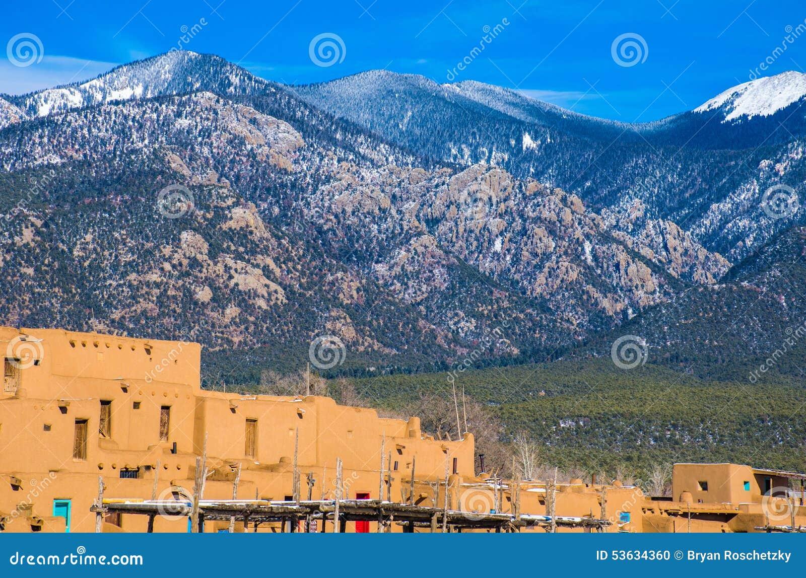 Taos New Mexico Sangre de cristo Mountains Ancient History
