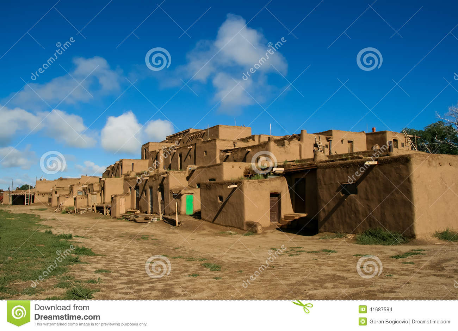 Taos Pueblo, Taos, New Mexico - on a cloudy day for very ...  |Taos Pueblo New Mexico Usa