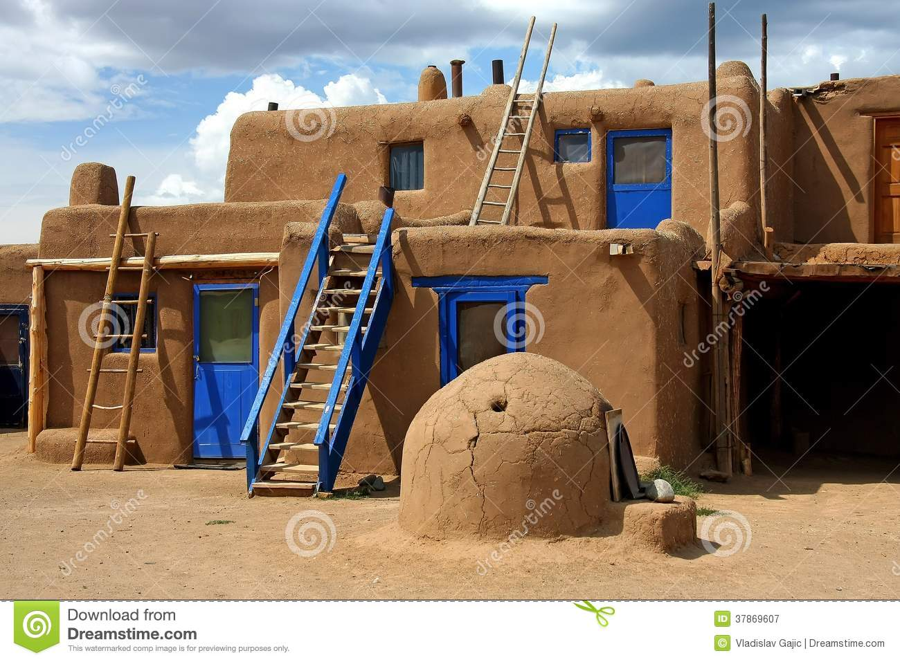 Taos pueblo stock image image of buildings america Indian building photos