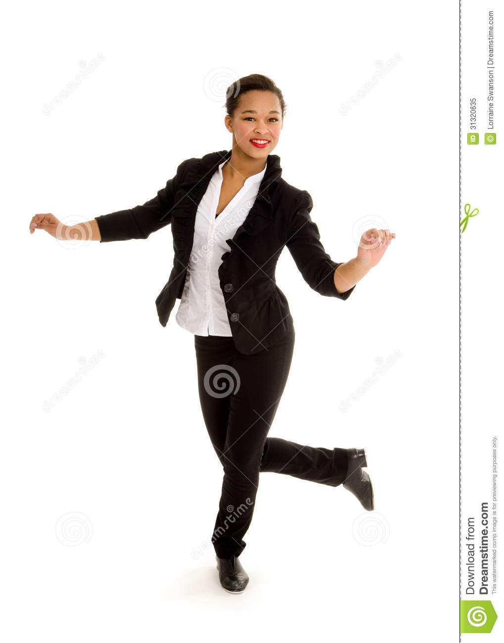 Tap Dancing Girl In Action Royalty Free Stock Photo - Image 31320635