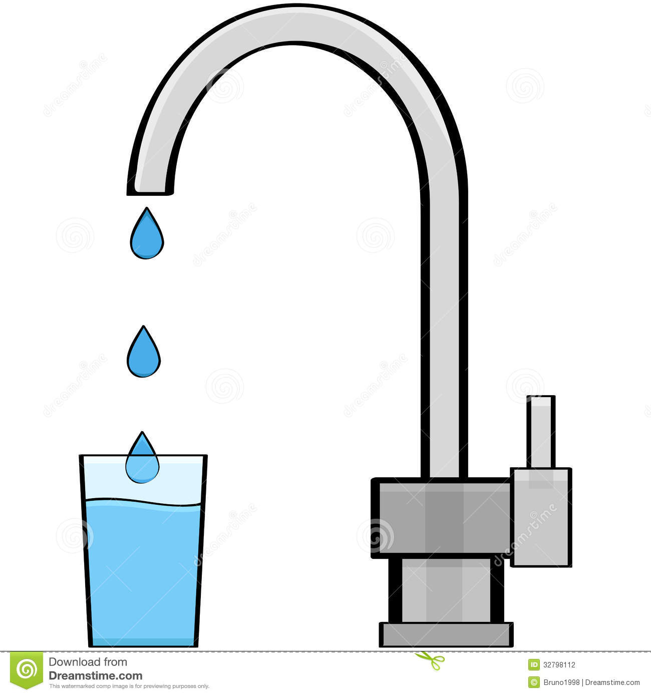 Drinking Water Faucet >> Tap water stock vector. Illustration of drink, cartoon - 32798112