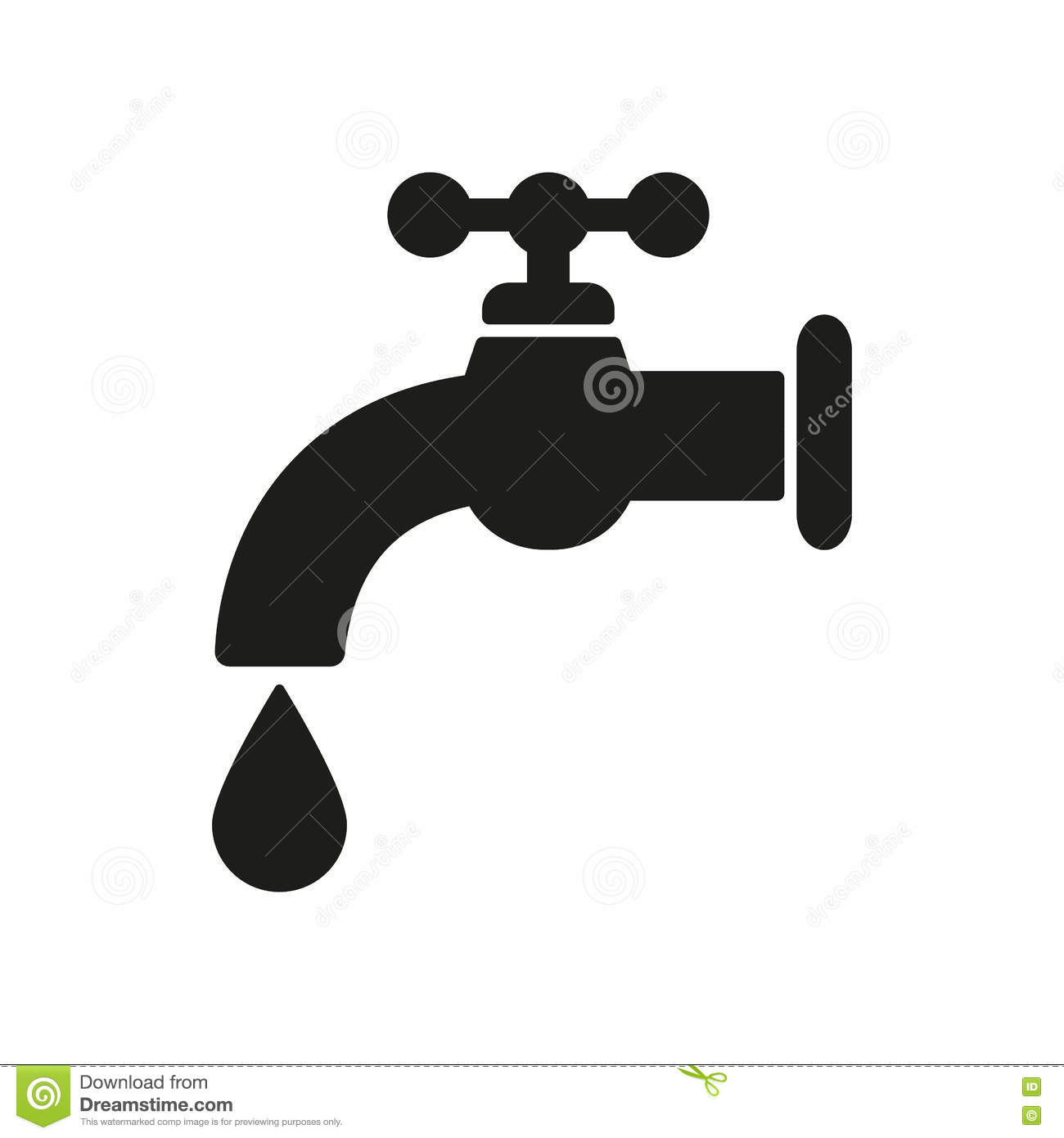 Drinking Water Faucet >> The Tap Water Icon. Water Symbol. Flat Stock Vector - Illustration of silhouette, shape: 78884301