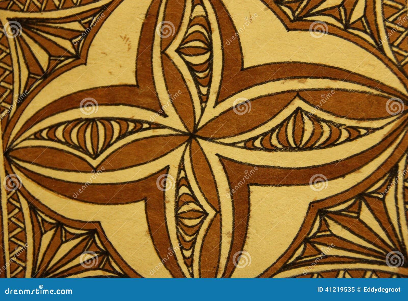 Tapa Cloth stock image. Image of samoa, tourist, bark ...