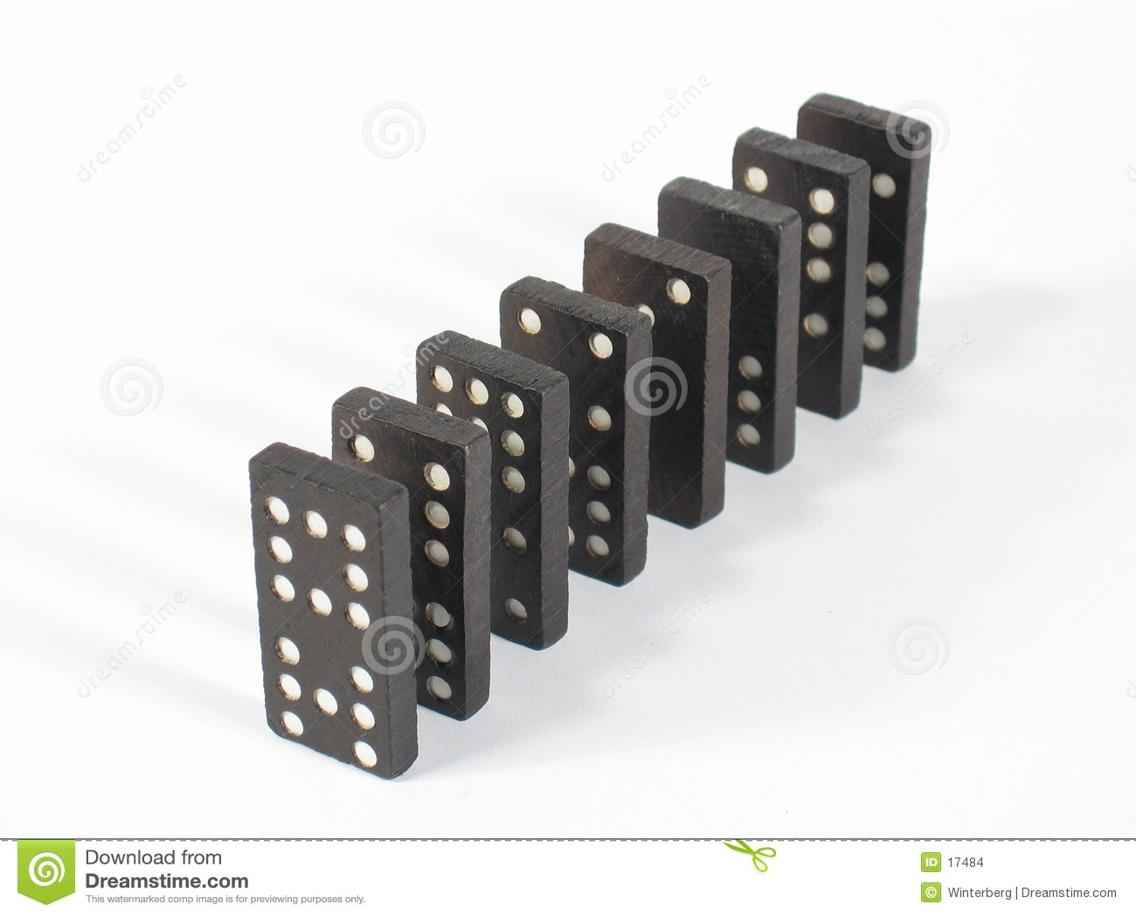 Tapa de la fila del dominó