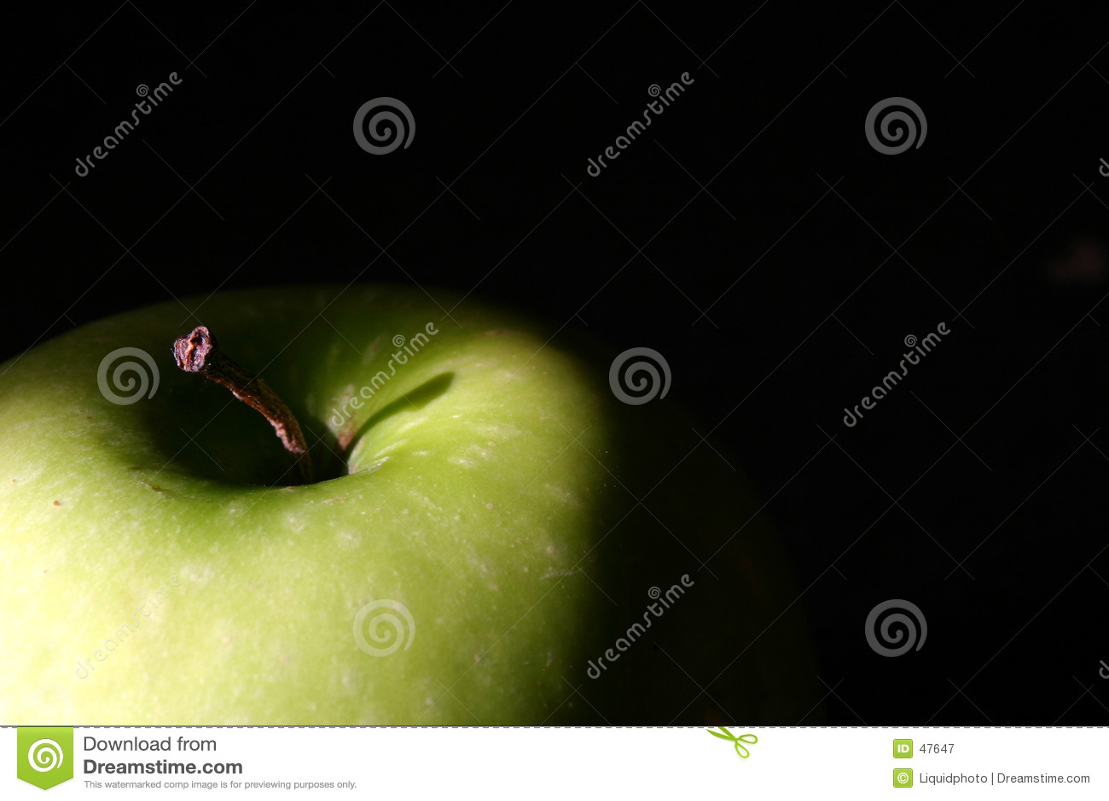 Tapa verde de Apple en negro