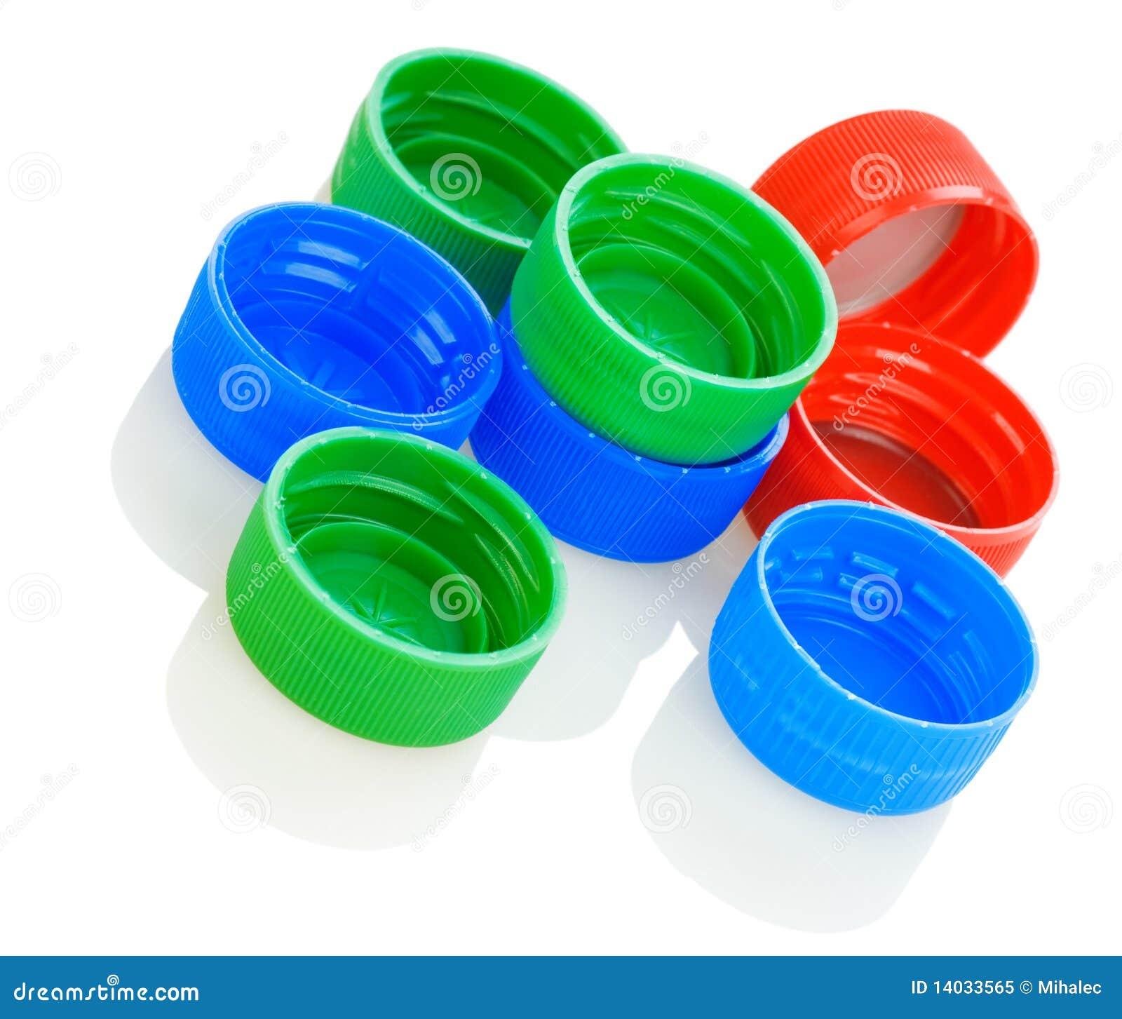 Tapas pl sticas coloridas foto de archivo libre de for Tapas de plastico