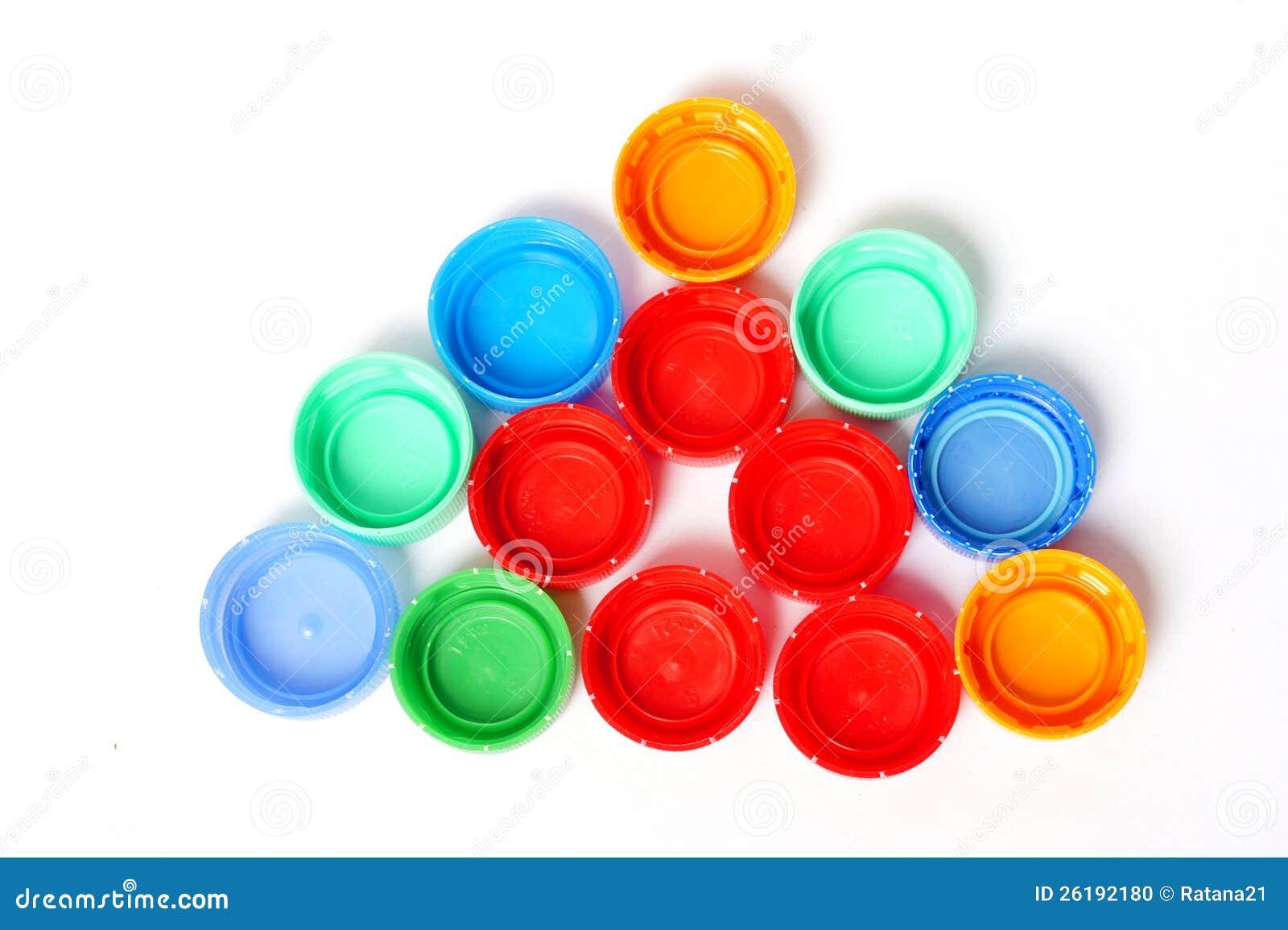 Tapas Plásticas Coloridas De La Botella Foto de archivo - Imagen de ... 7cd8bce60e06