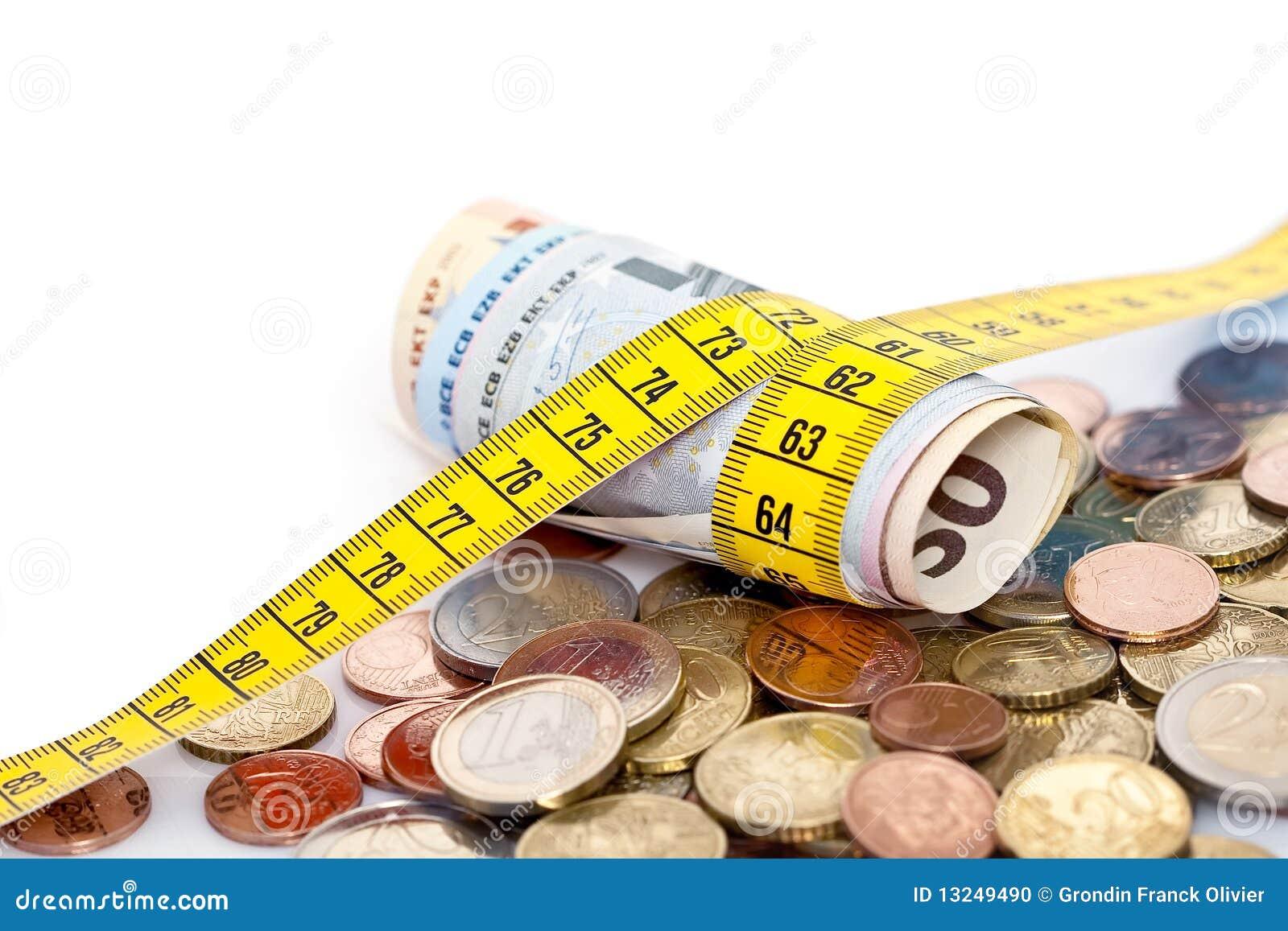 Tape measure around Euros