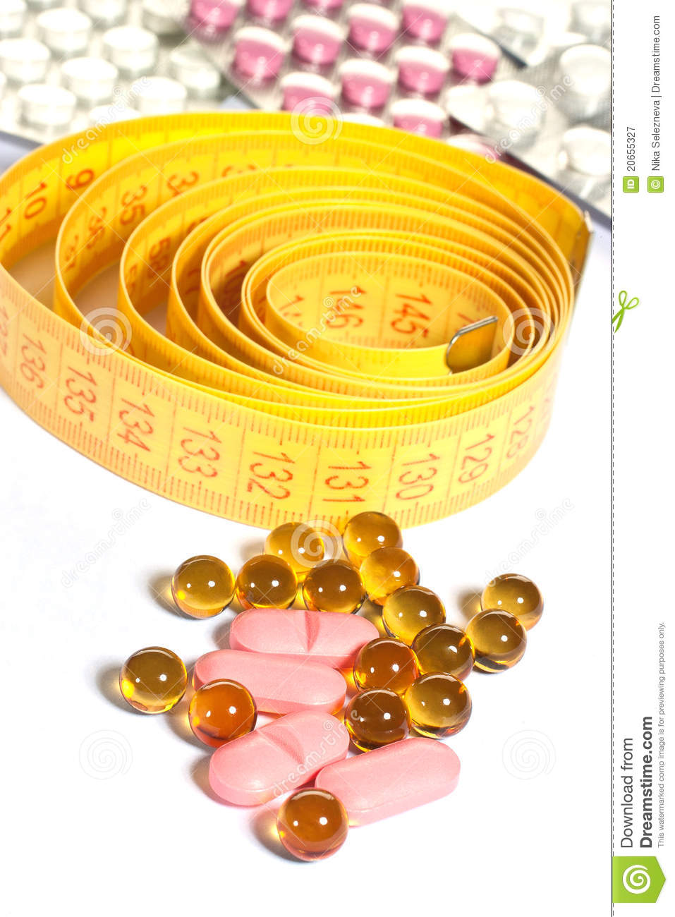 Tape measure and diet pills
