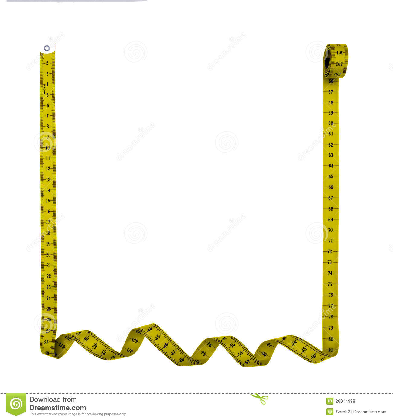 Vector of tape measure border a page border created from a rag tape - Tape Measure Frame Square Royalty Free Stock Photos