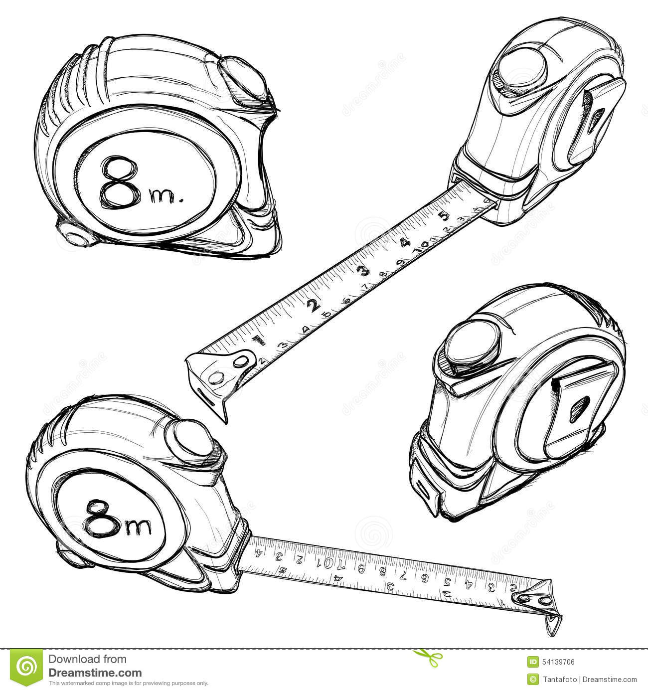 It's just an image of Impeccable Measuring Tape Drawing