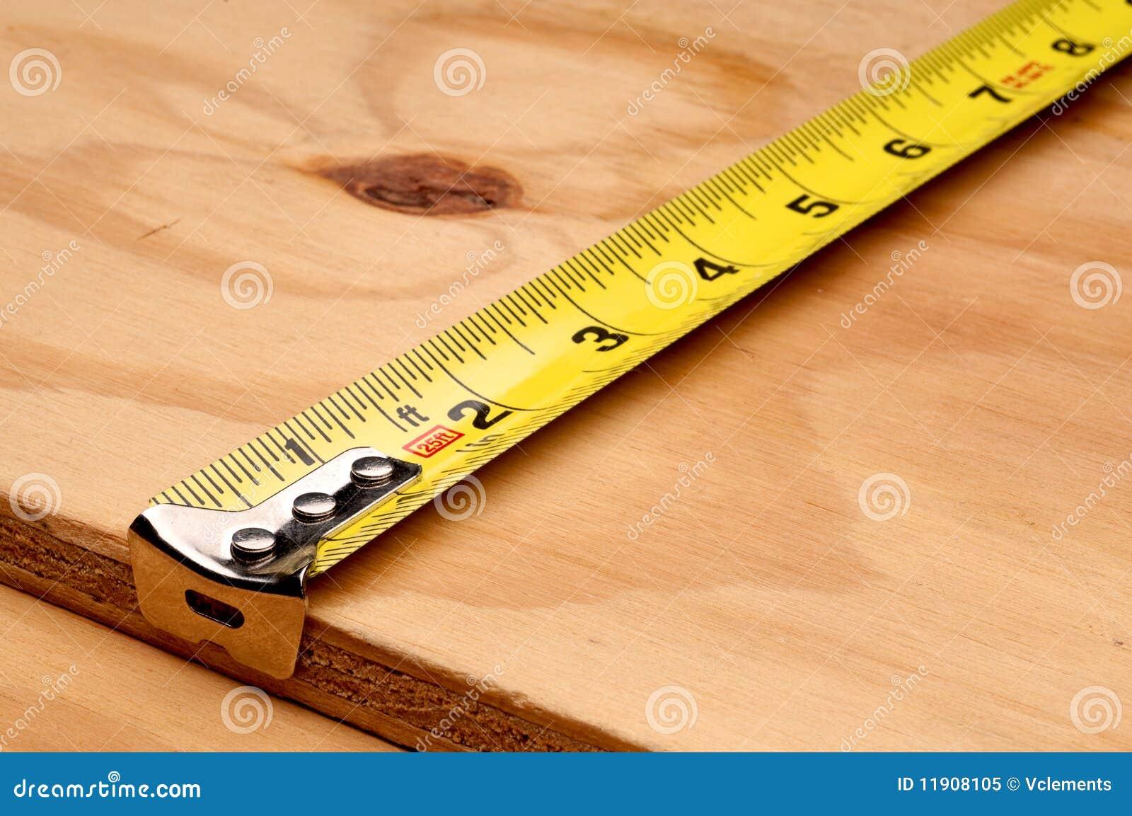Tape Measure Measuring Wood Stock Image Image 11908105