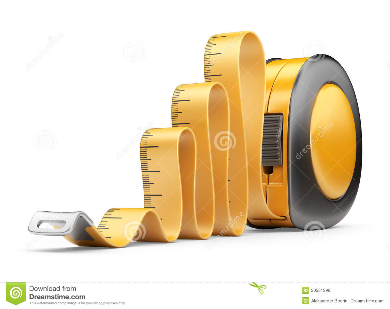 Process Improvement Icon Tape measure ruler  3D Icon