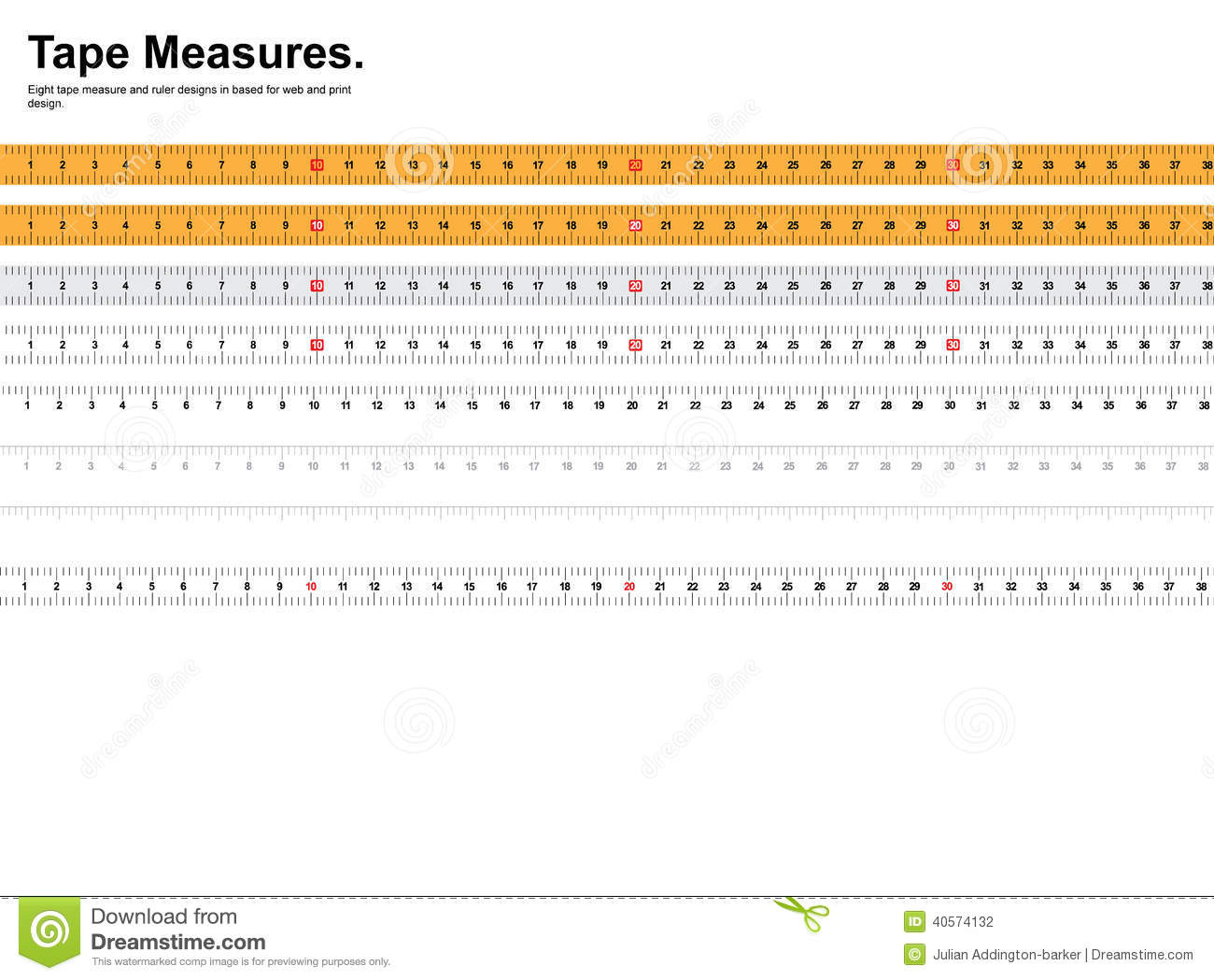 This is a graphic of Influential Printable Measuring Tape