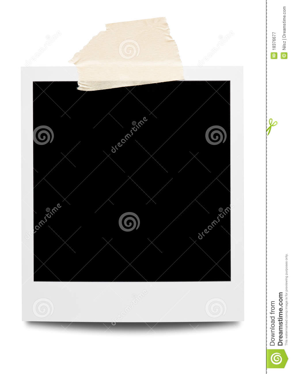 Taped Down Polaroid Picture Frame Stock Image Image Of