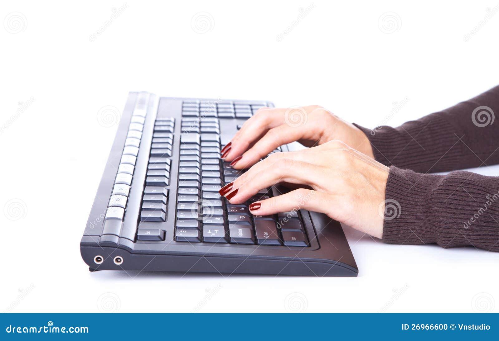 Taper sur le clavier.