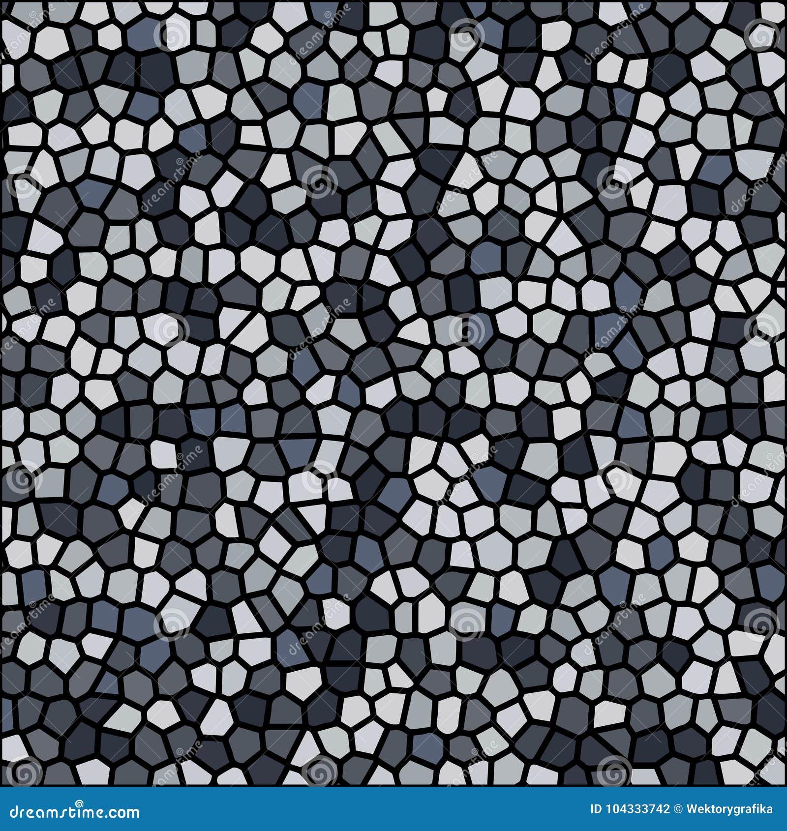 Tapet för bakgrund för vektor för mosaik för stenkiselstentextur