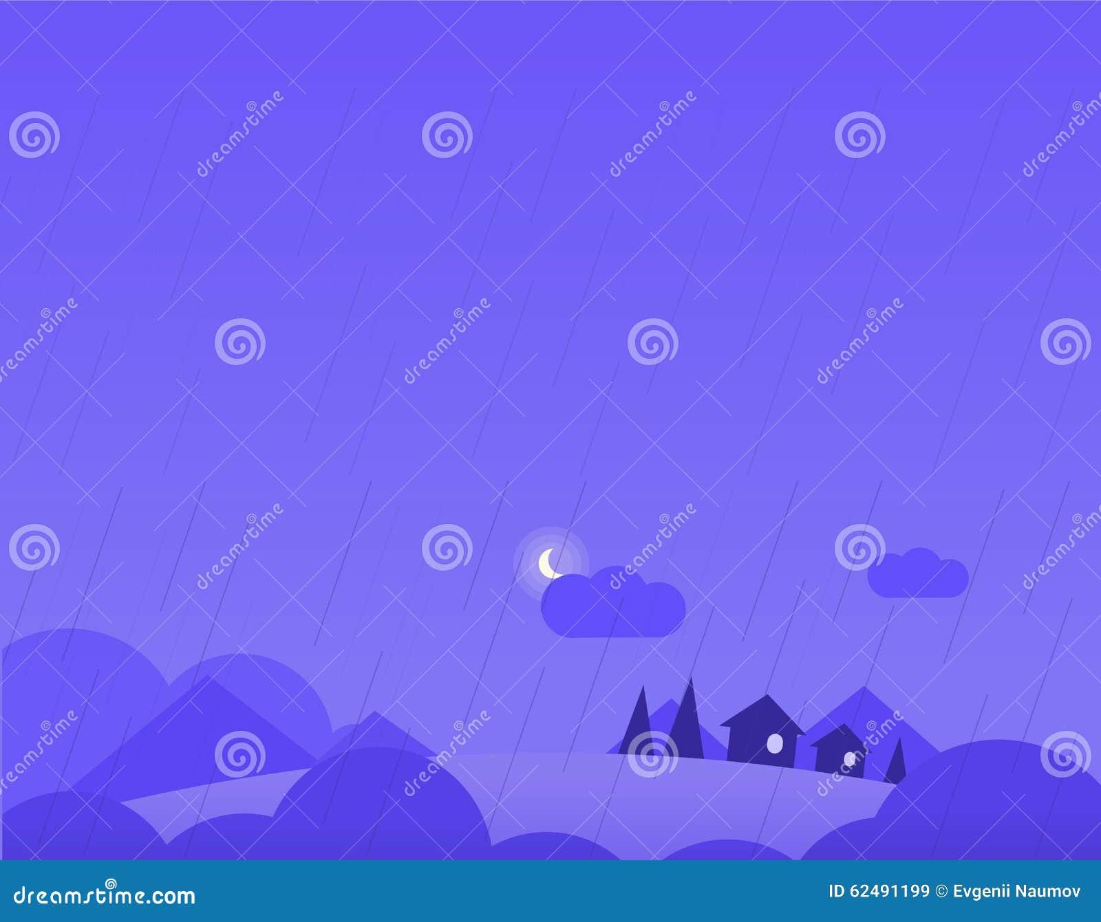 Tapeta krajobraz z wioska domami, wzgórza i