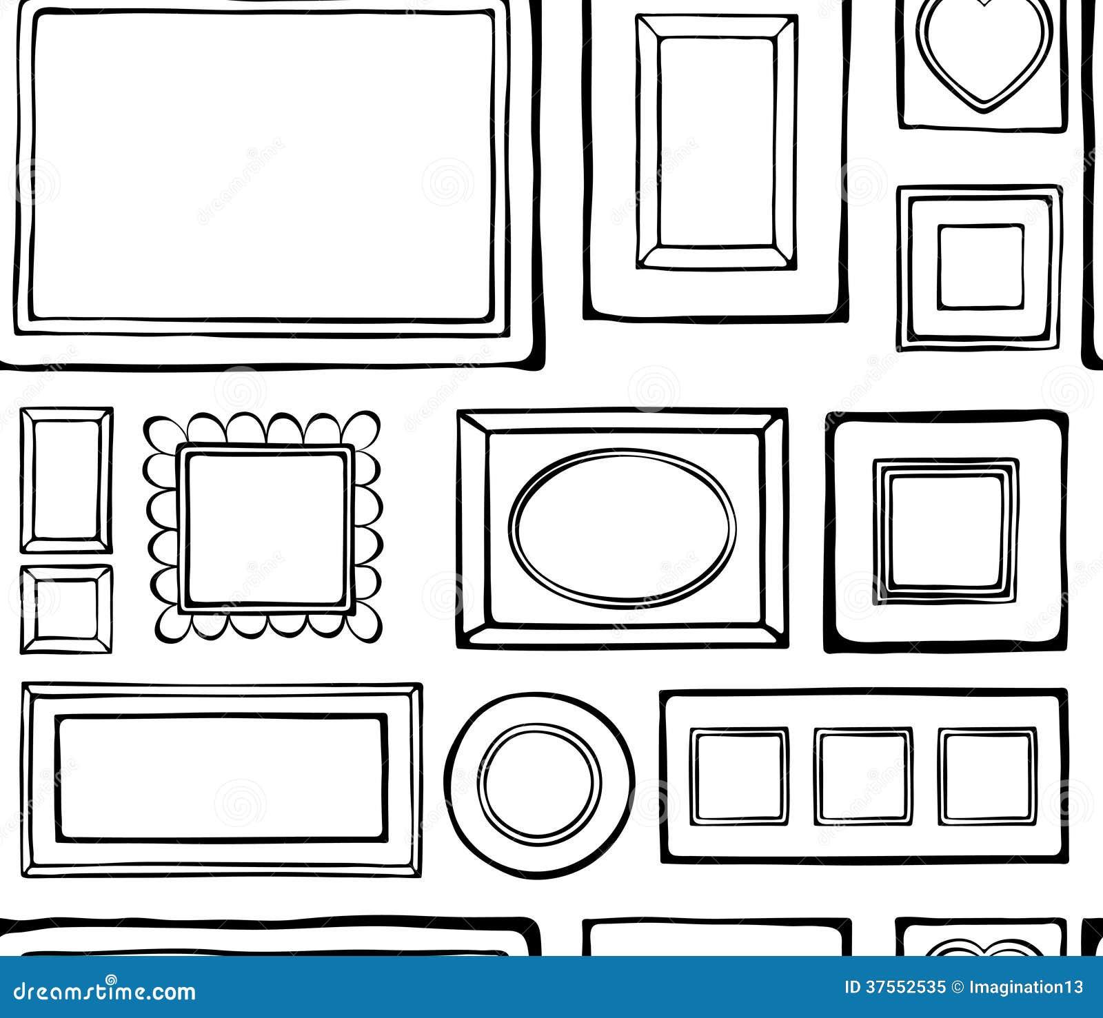 tapete bilderrahmen und malereien lizenzfreies stockfoto bild 37552535. Black Bedroom Furniture Sets. Home Design Ideas