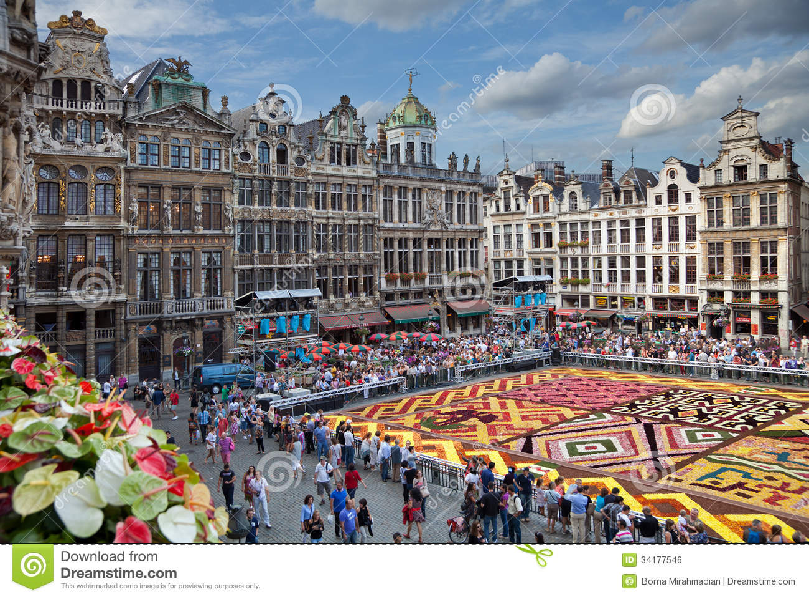 Tapete da flor em Grand Place de Bruxelas
