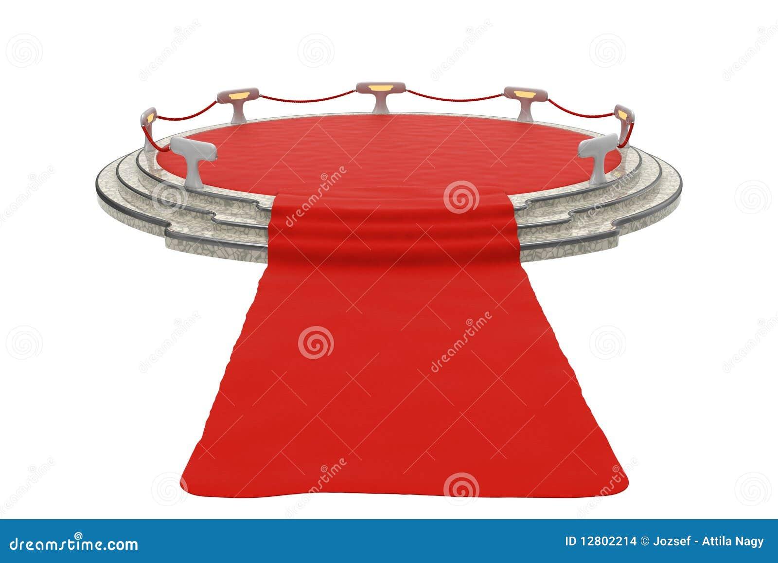 Tapete vermelho ao pódio