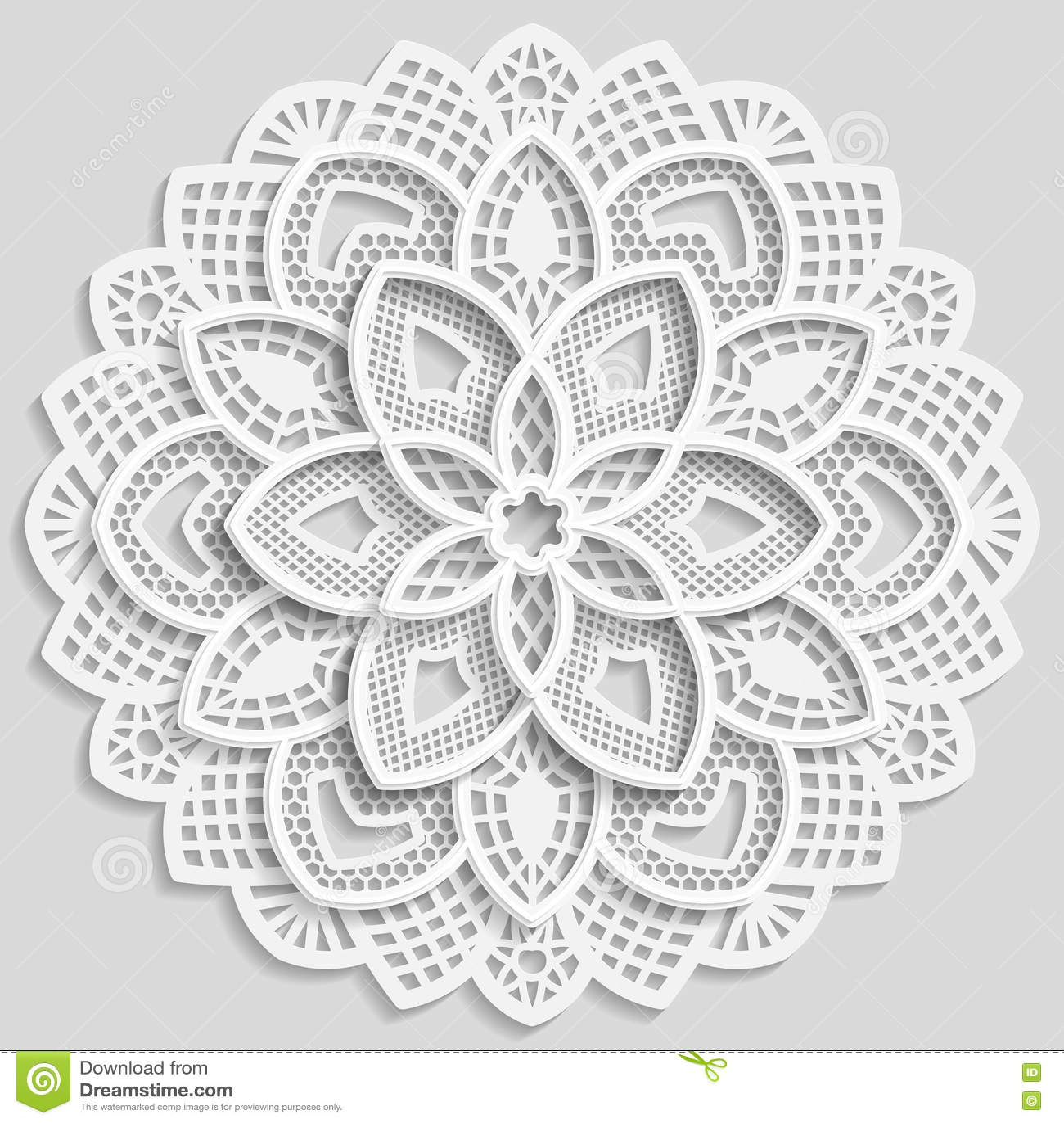 Tapetito De Papel De Encaje, Flor Decorativa, Copo De Nieve ...