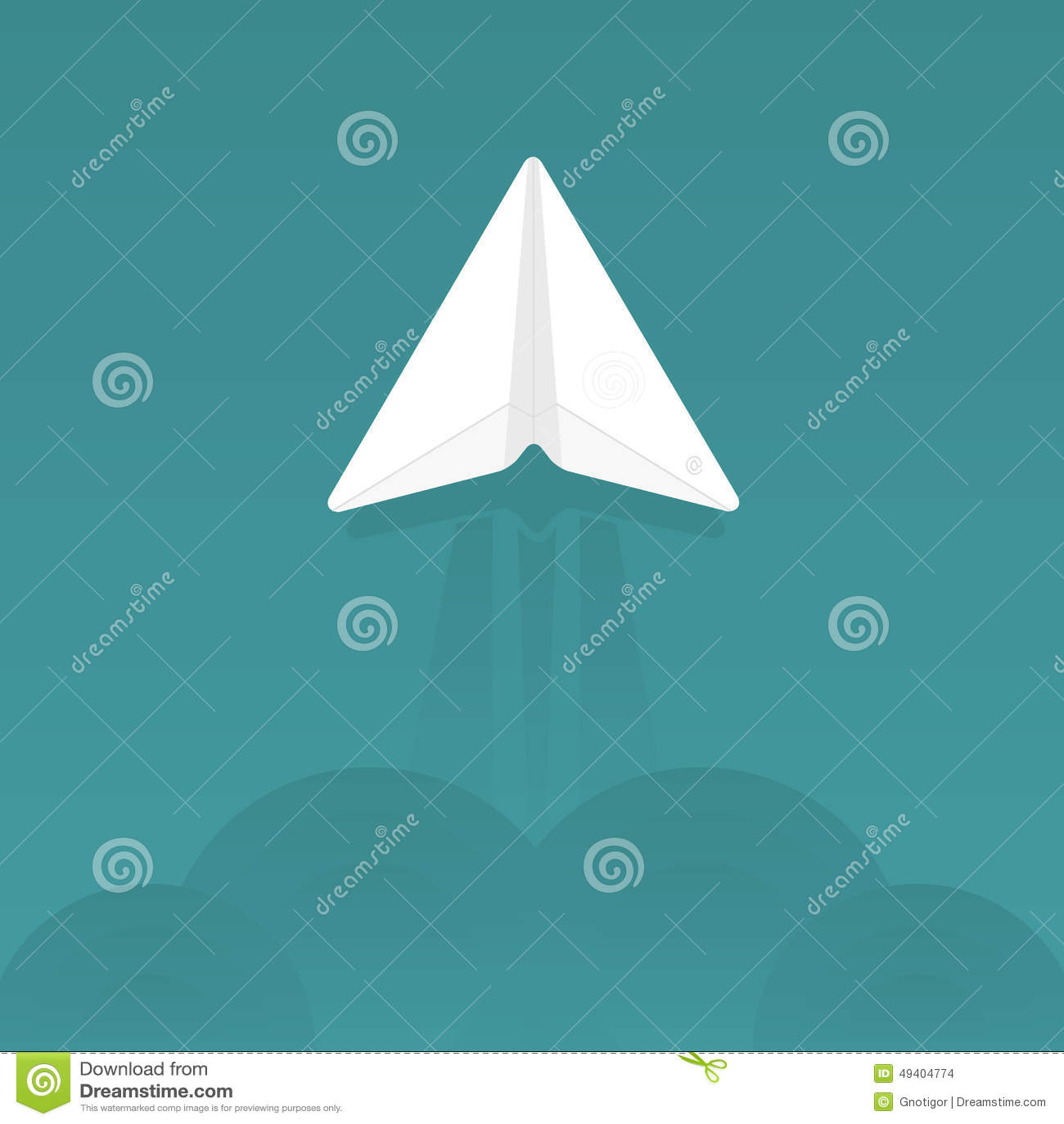 Download Tapezieren Sie Flugzeug vektor abbildung. Illustration von zeichen - 49404774