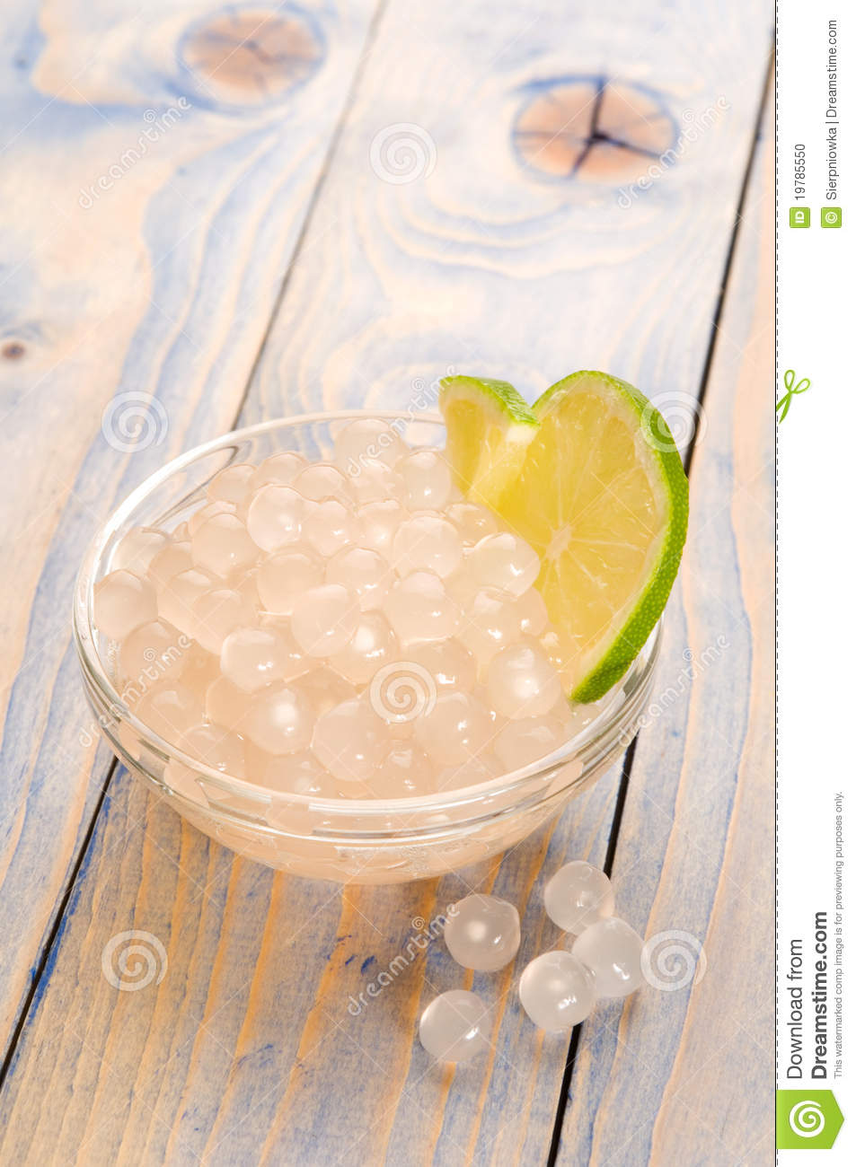 Tapioca Pearls With Lime. Bubble Tea Stock Photo - Image ...